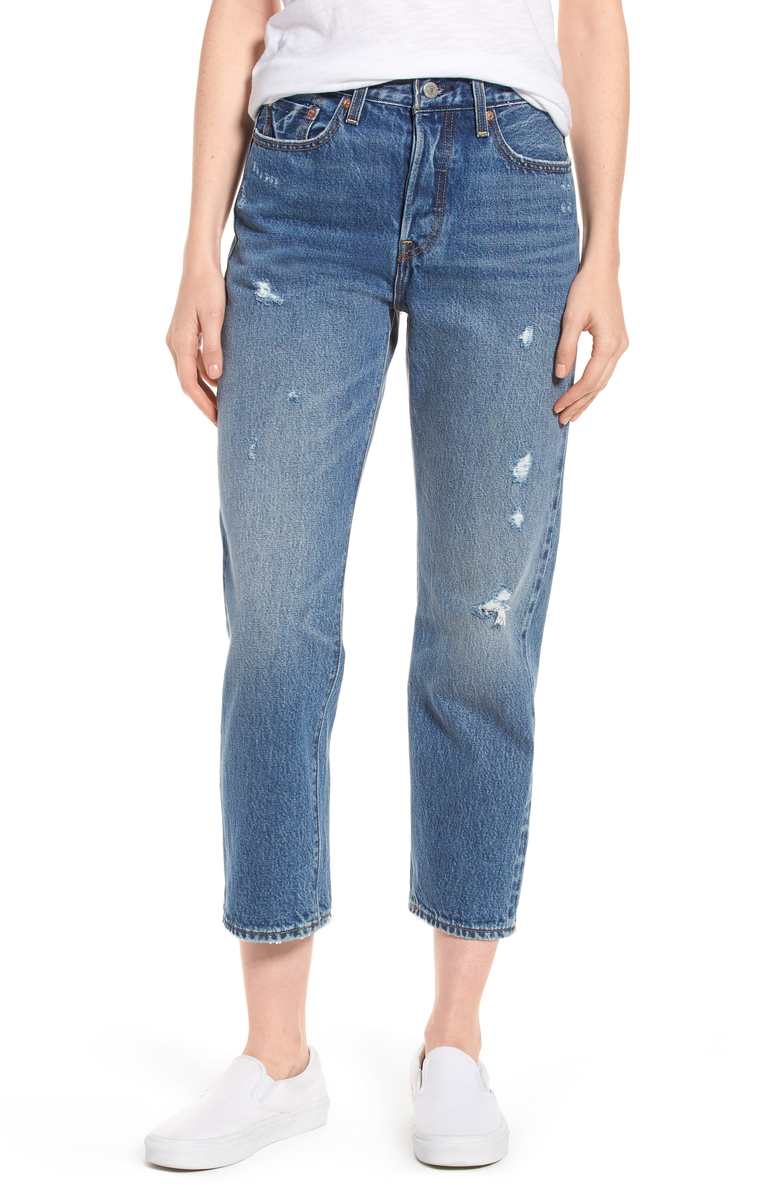 Levi's® Wedgie High Waist Straight Jeans (Before Dawn)