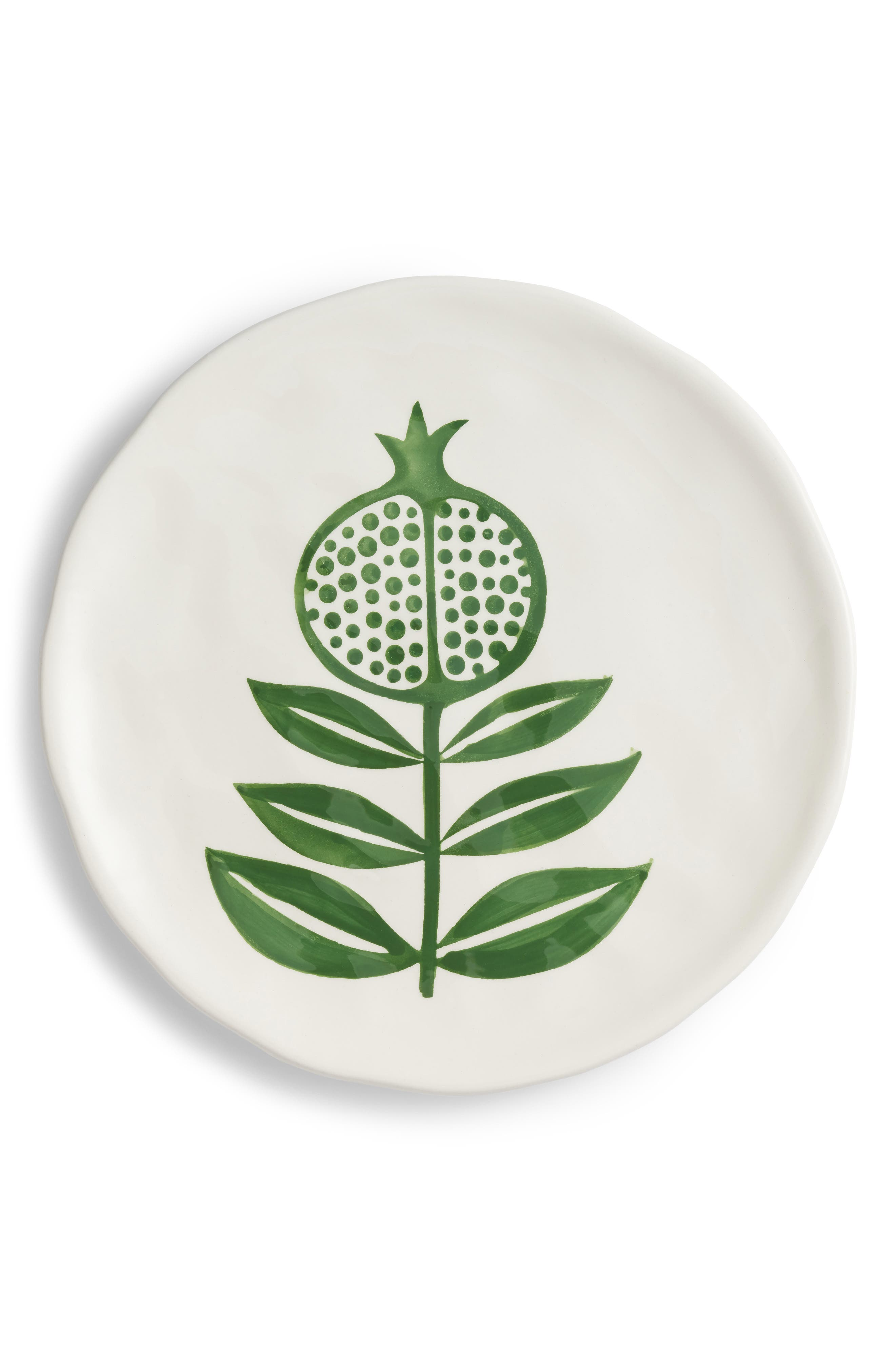 Hand Painted Plate,                             Main thumbnail 1, color,                             Green