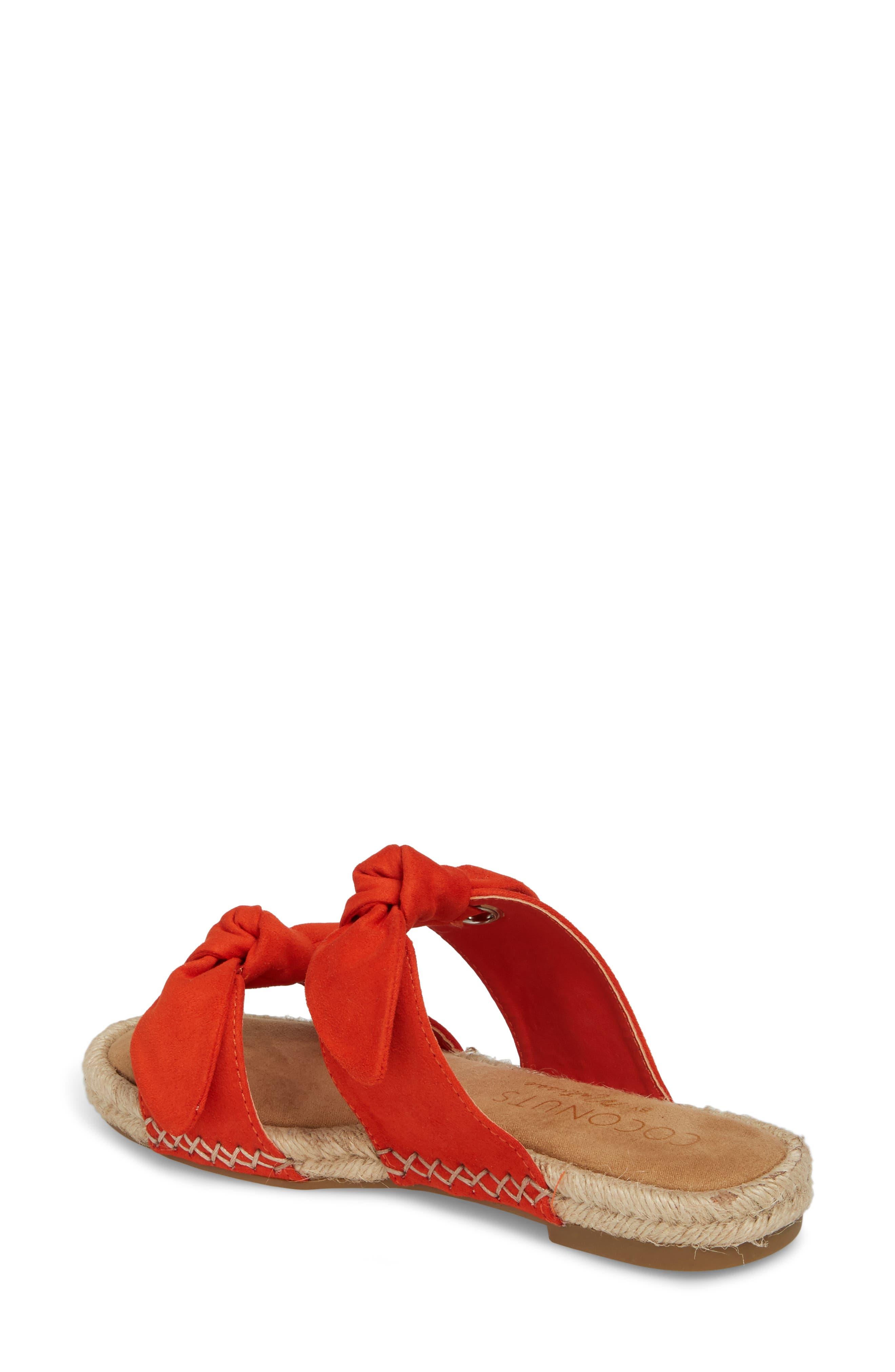 Gianna Espadrille Slide Sandal,                             Alternate thumbnail 2, color,                             Fire Suede