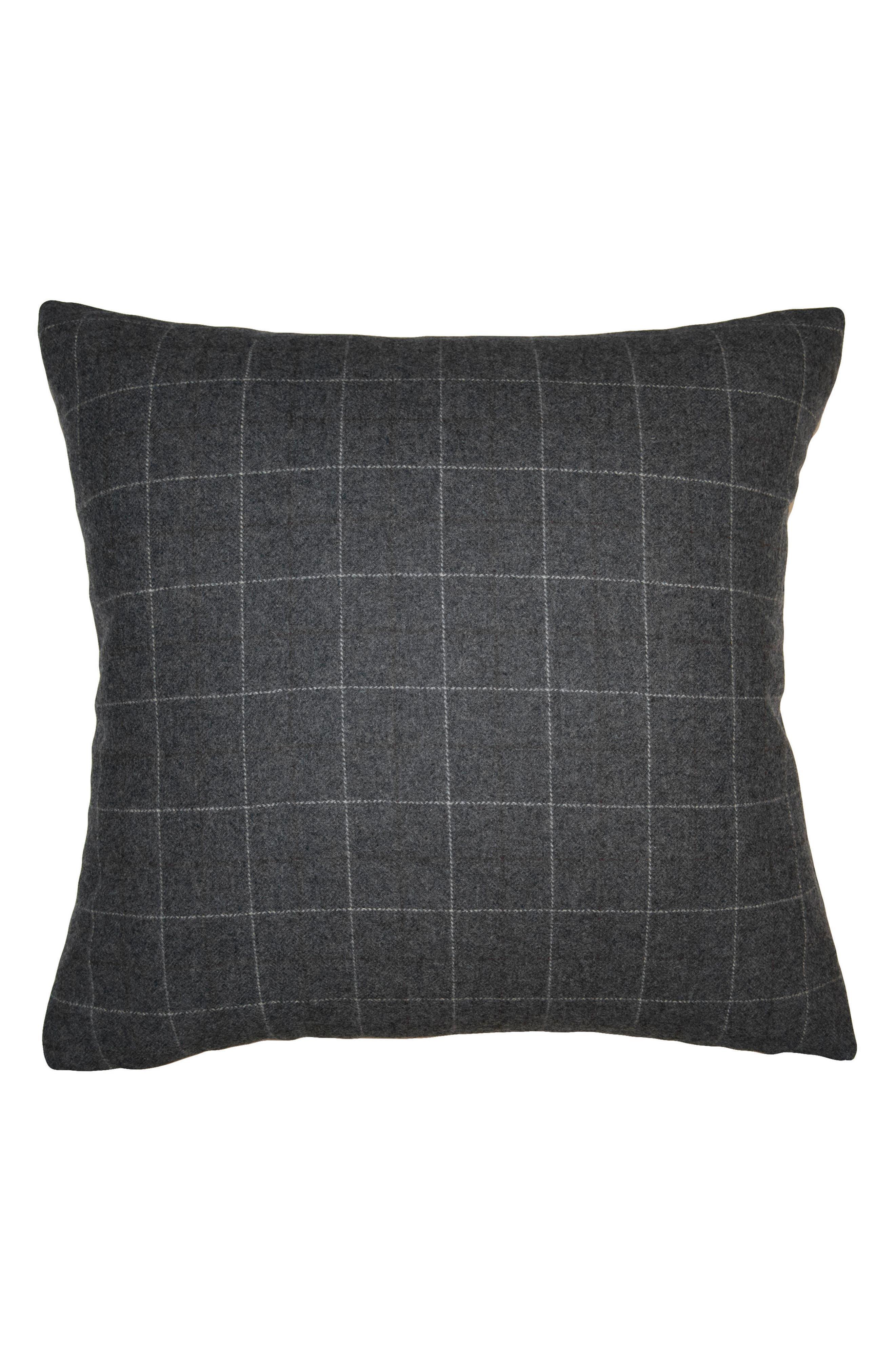 Robertson Checkers Accent Pillow,                             Main thumbnail 1, color,                             Grey