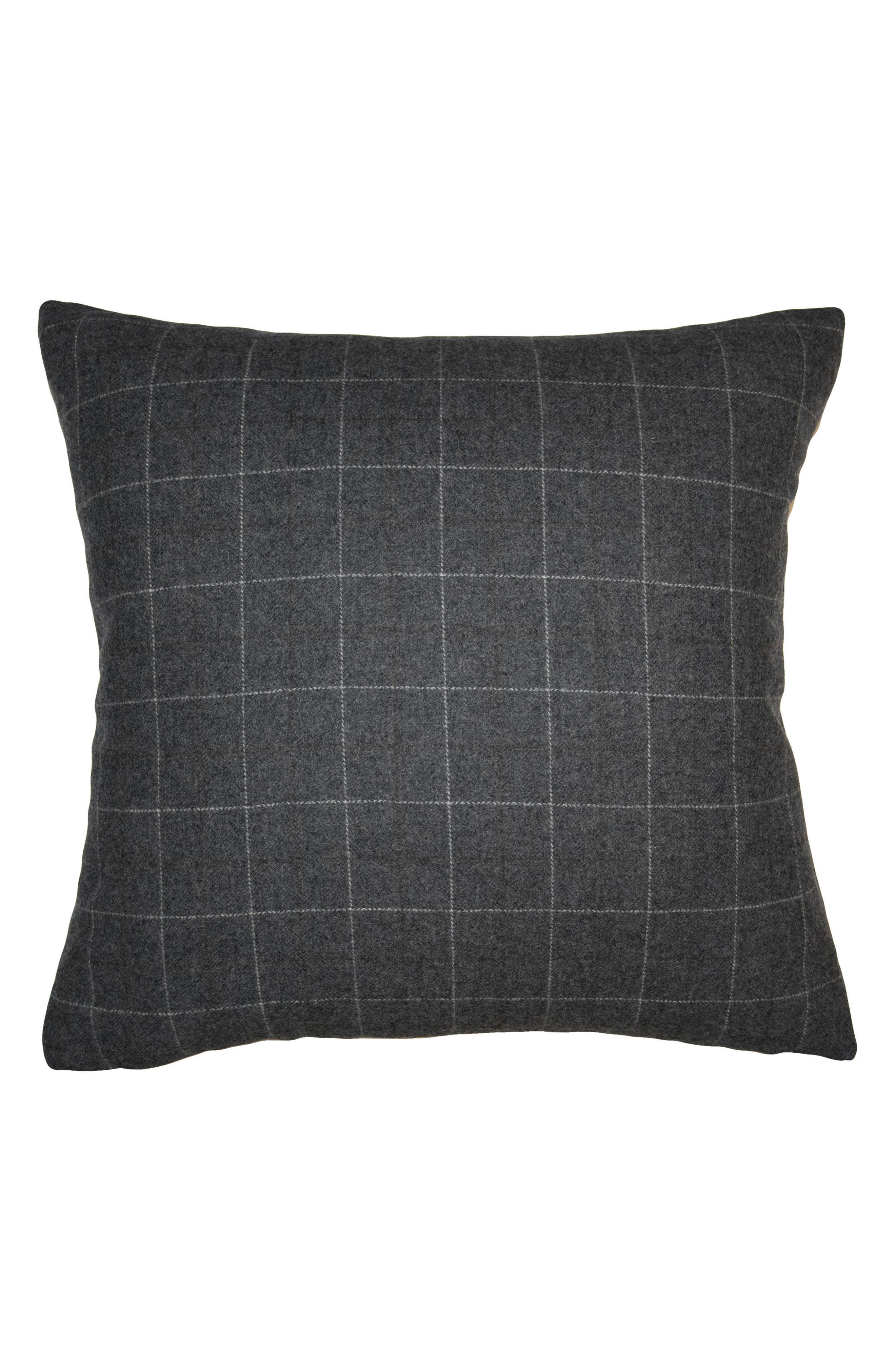 Robertson Checkers Accent Pillow,                         Main,                         color, Grey