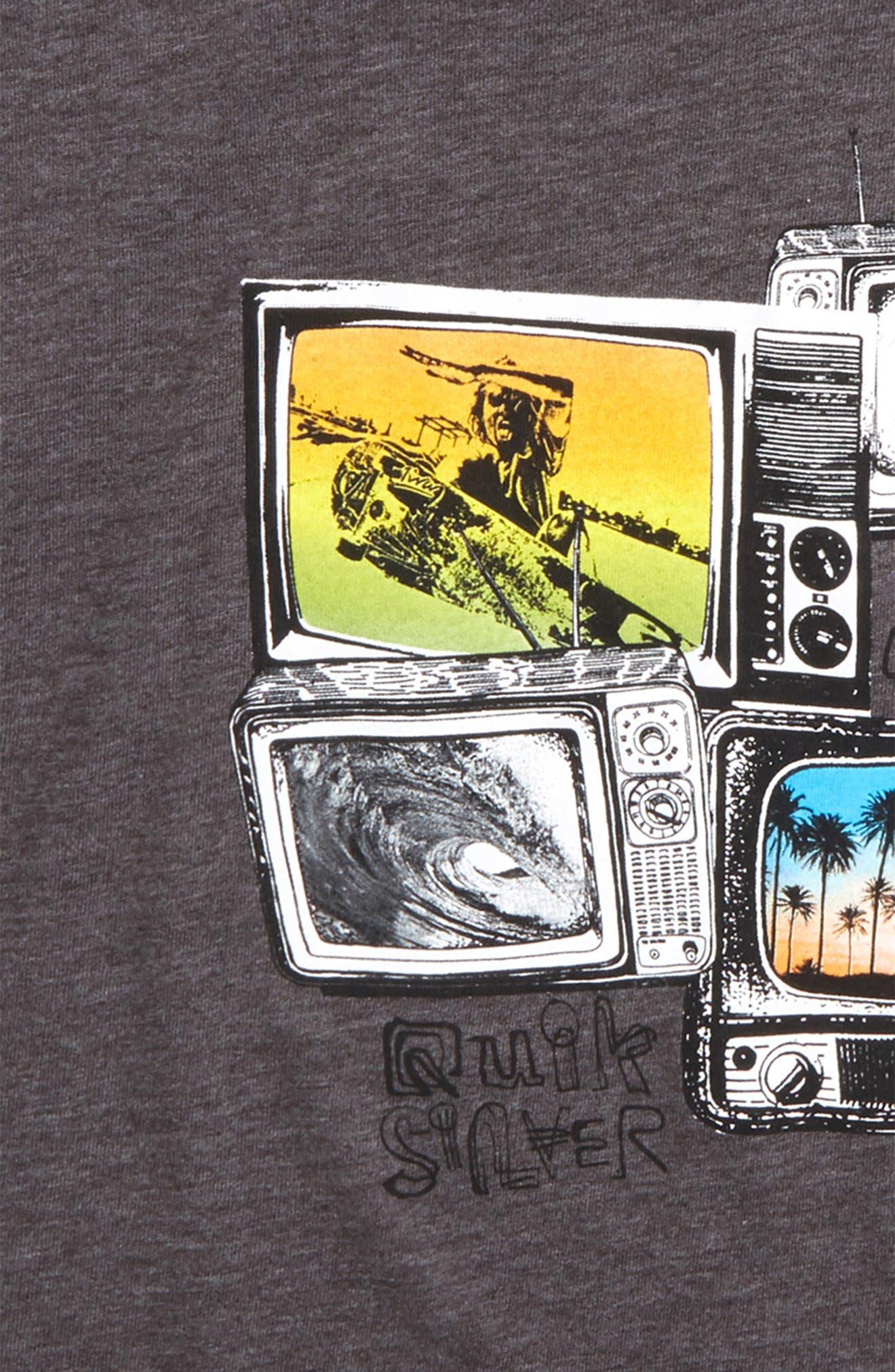 Super TV Graphic T-Shirt,                             Alternate thumbnail 2, color,                             Charcoal Heather