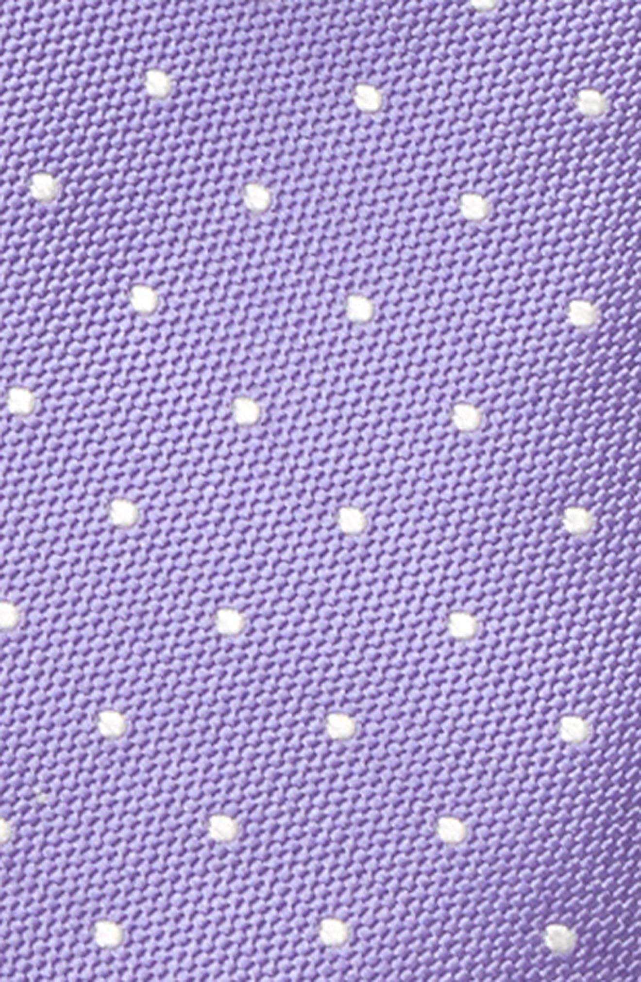 Dainty Dot Silk Zip Tie,                             Alternate thumbnail 2, color,                             Purple