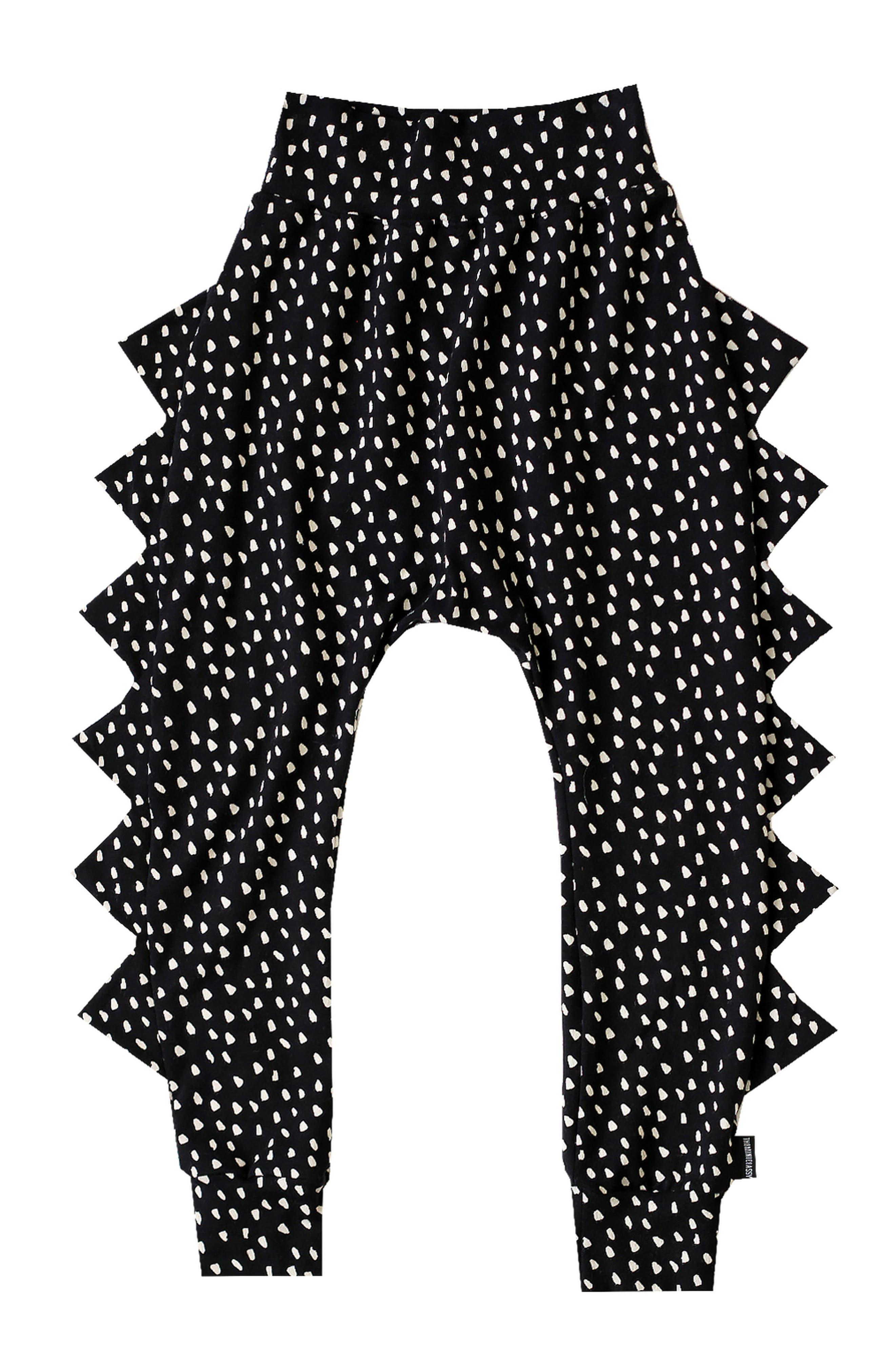 Dots Dino Jogger Pants,                         Main,                         color, Black/ Ivory