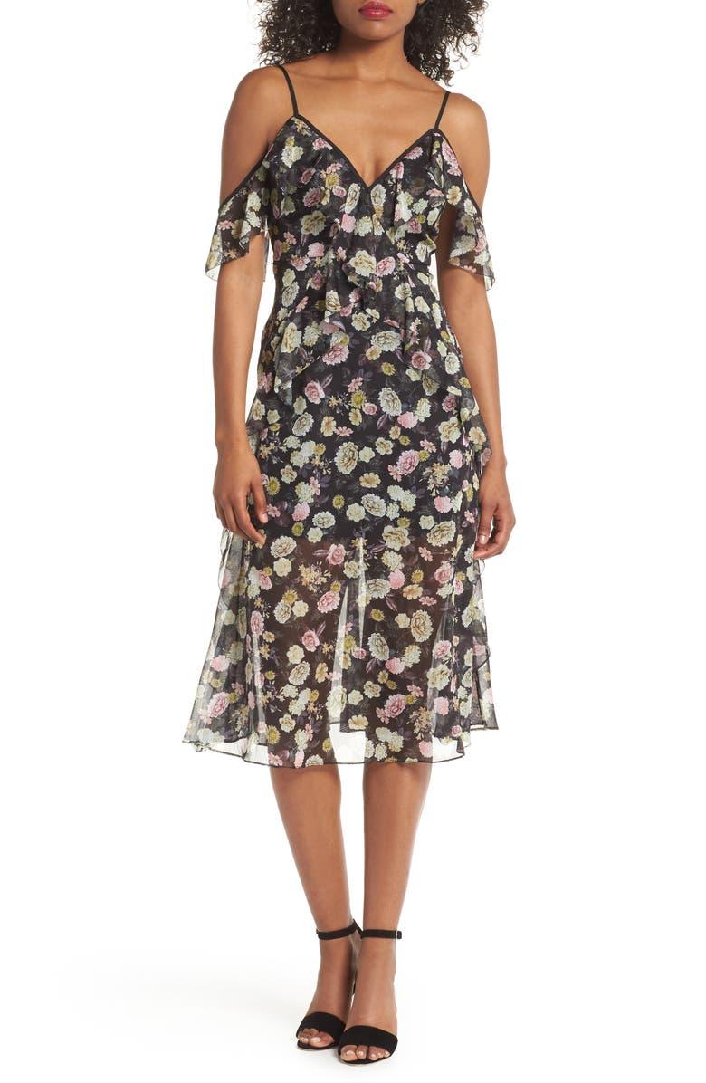 Playful Flounce Tea Length Dress