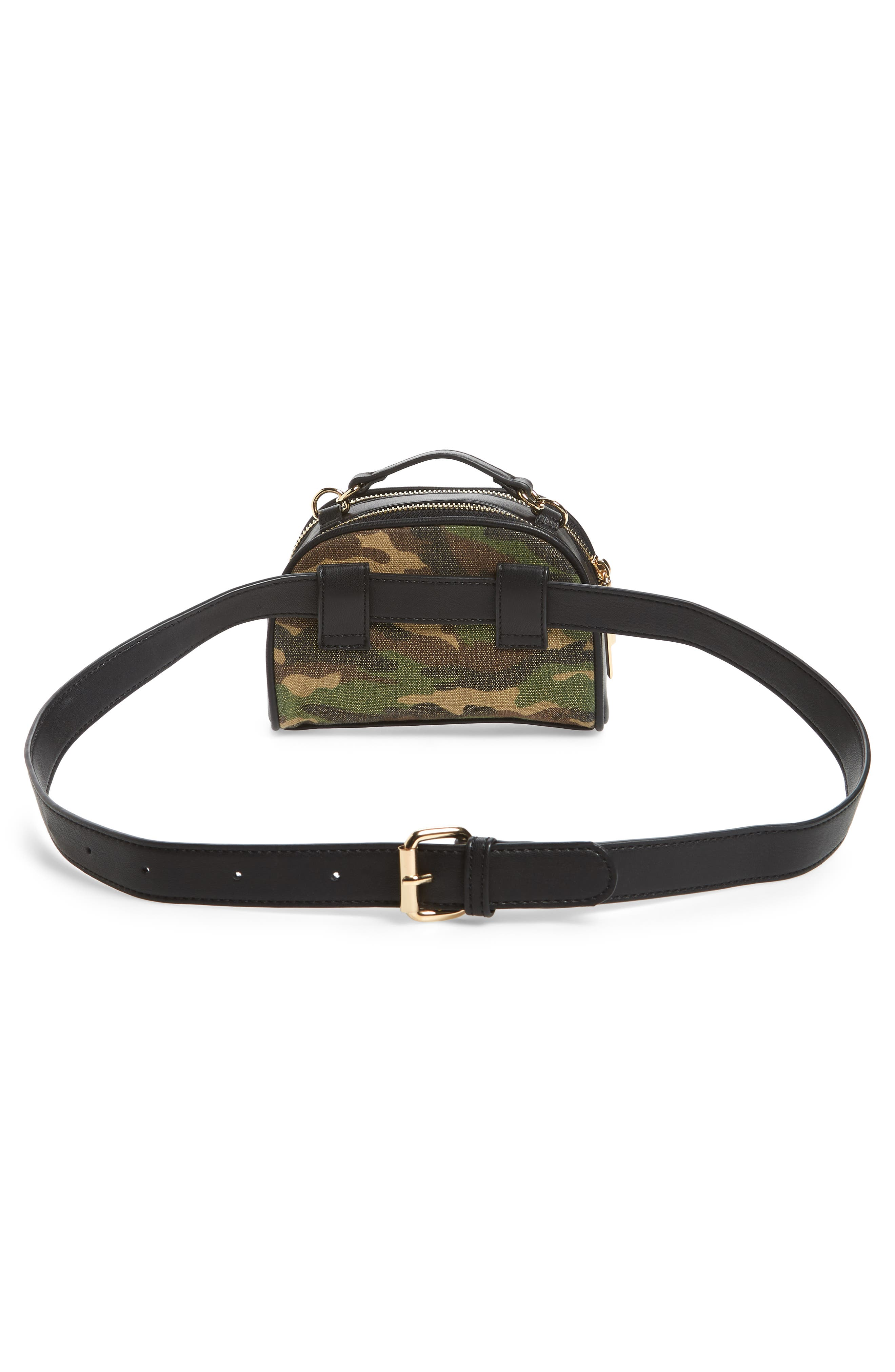 Mali + Lili Quilted Camouflage Belt Bag,                             Alternate thumbnail 6, color,                             Camouflage