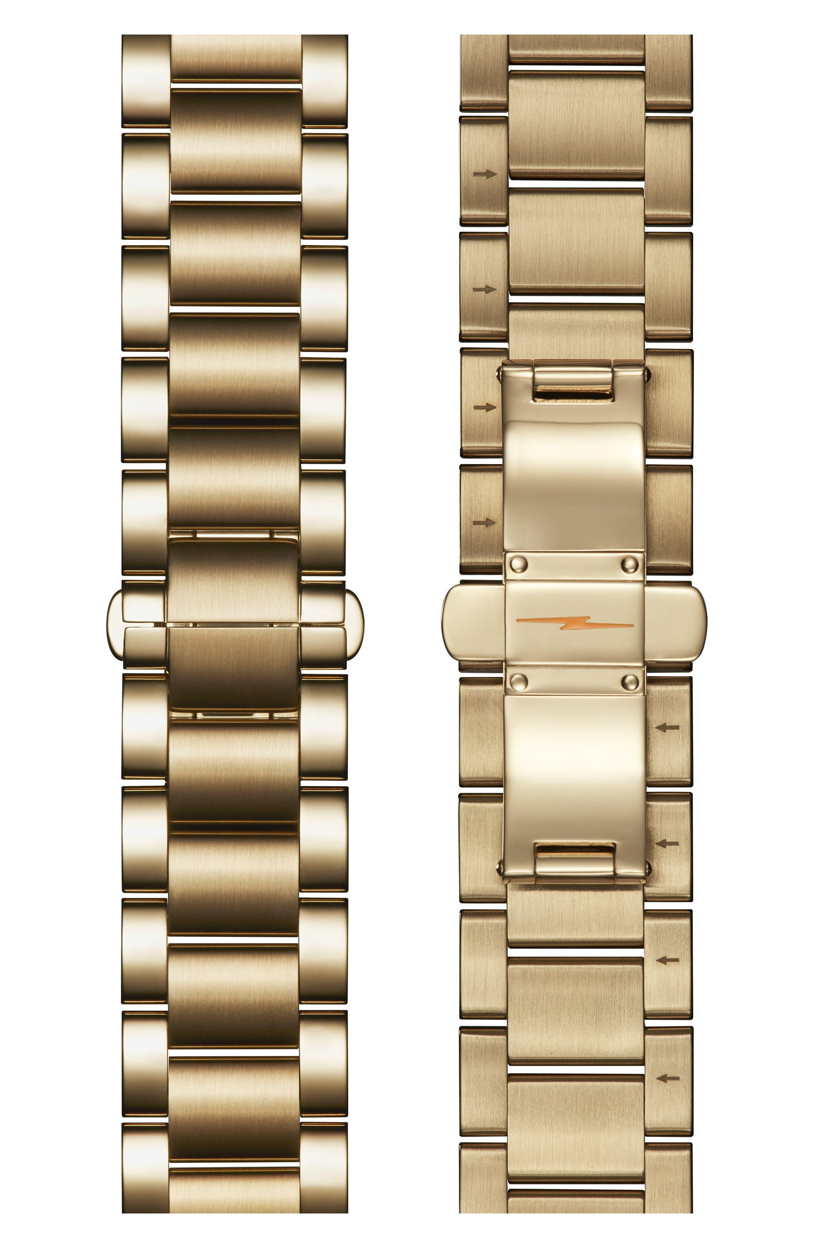 The Guardian Bracelet Watch, 36mm,                             Alternate thumbnail 4, color,                             Gold/ White/ Gold