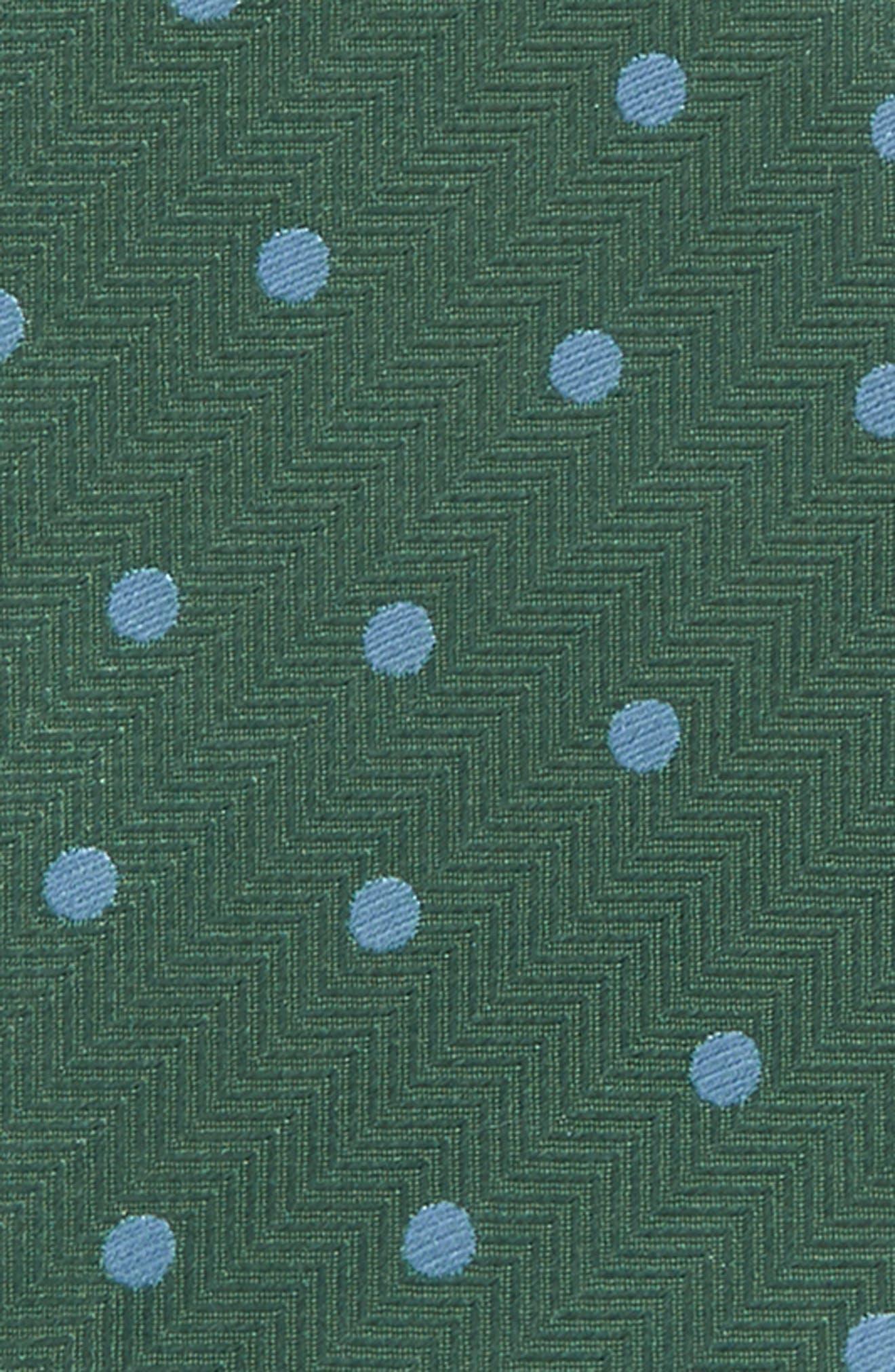Jackson Dot Silk Bow Tie,                             Alternate thumbnail 3, color,                             Kelly Green
