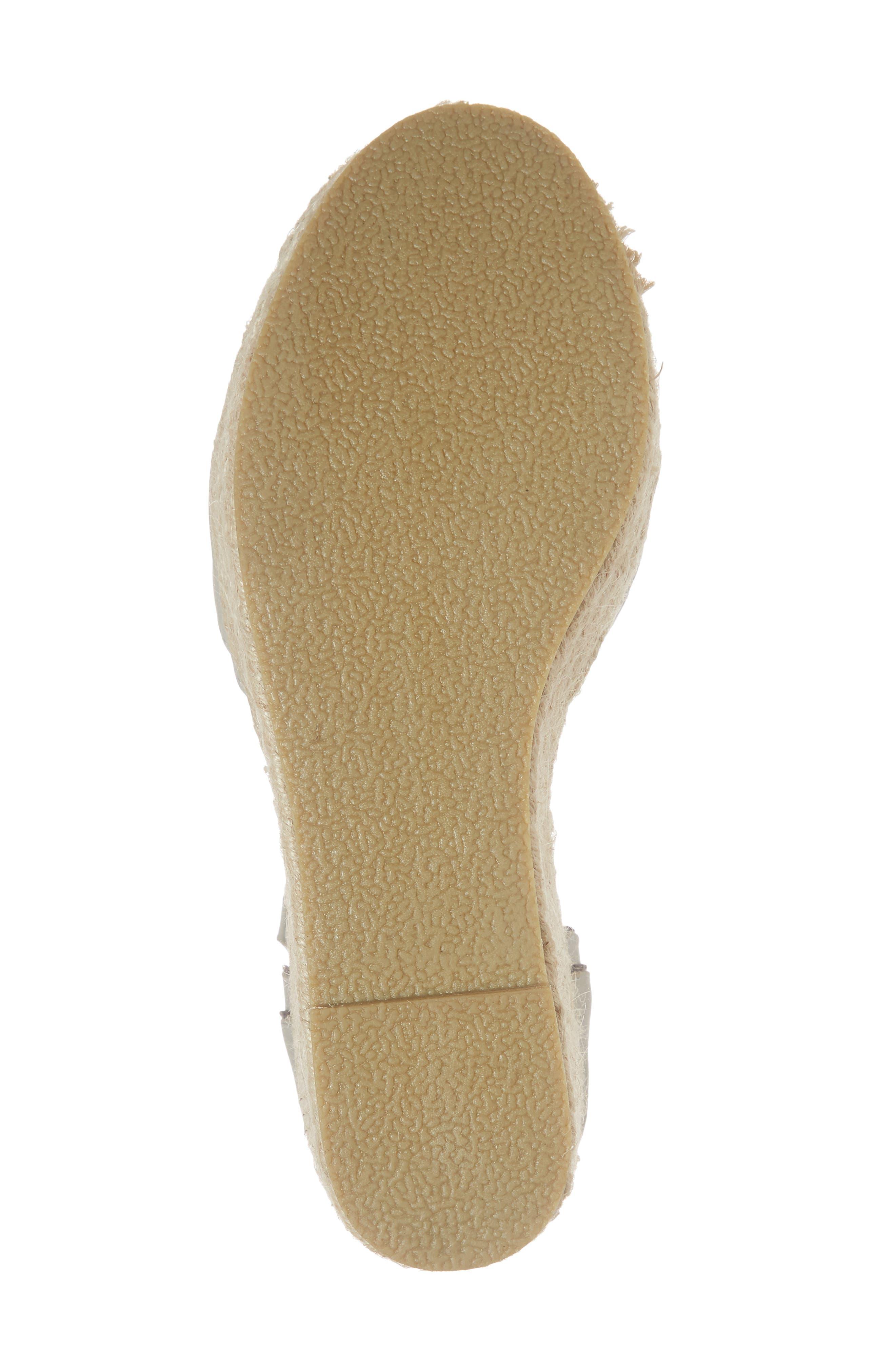 Bon Voyage Espadrille Wedge Sandal,                             Alternate thumbnail 6, color,                             Grey Fabric