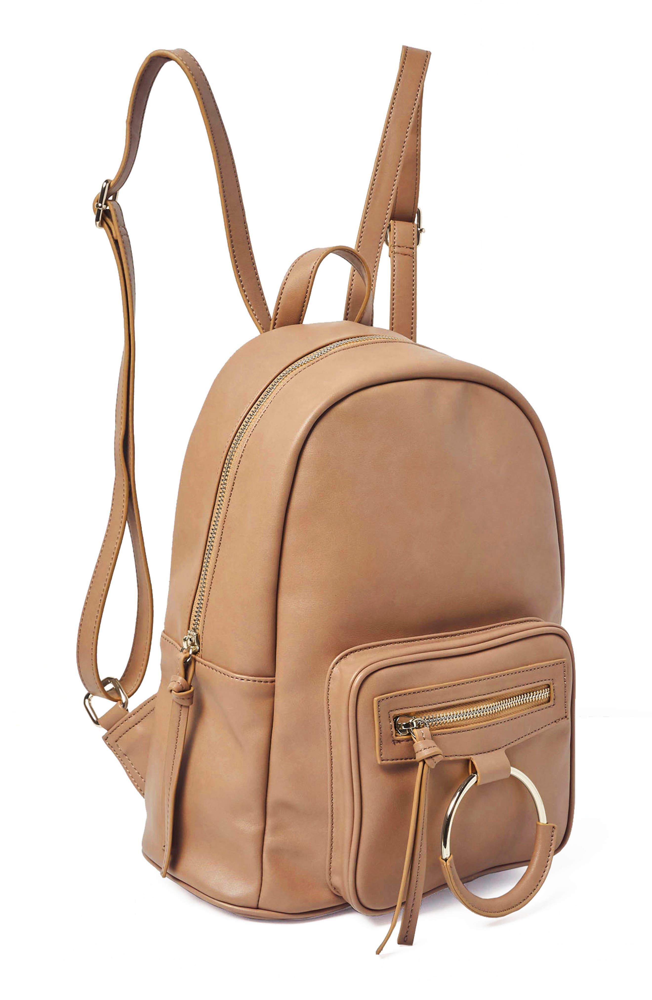 Sublime Vegan Leather Backpack,                             Alternate thumbnail 4, color,                             Nude