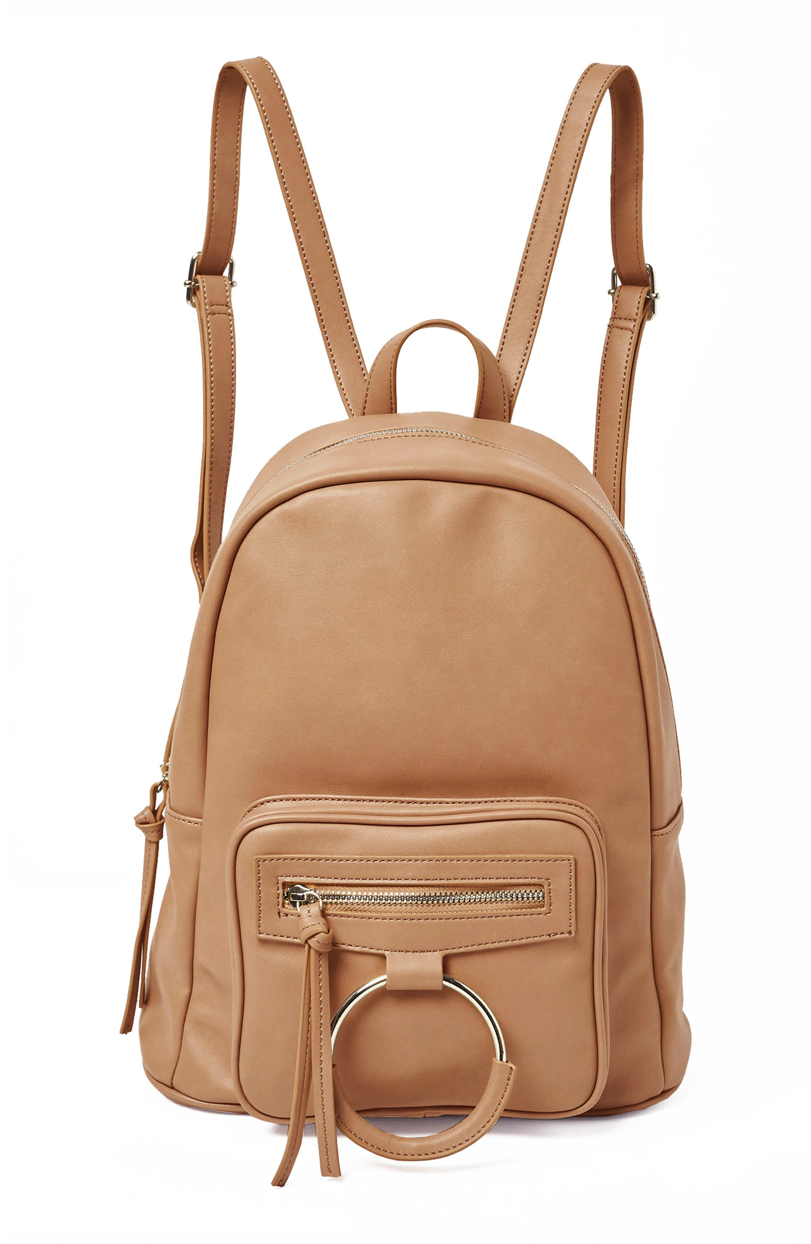 Sublime Vegan Leather Backpack,                             Main thumbnail 1, color,                             Nude