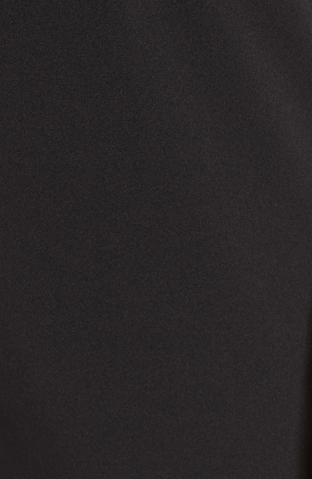 Illusion Neck Jumpsuit,                             Alternate thumbnail 6, color,                             Black