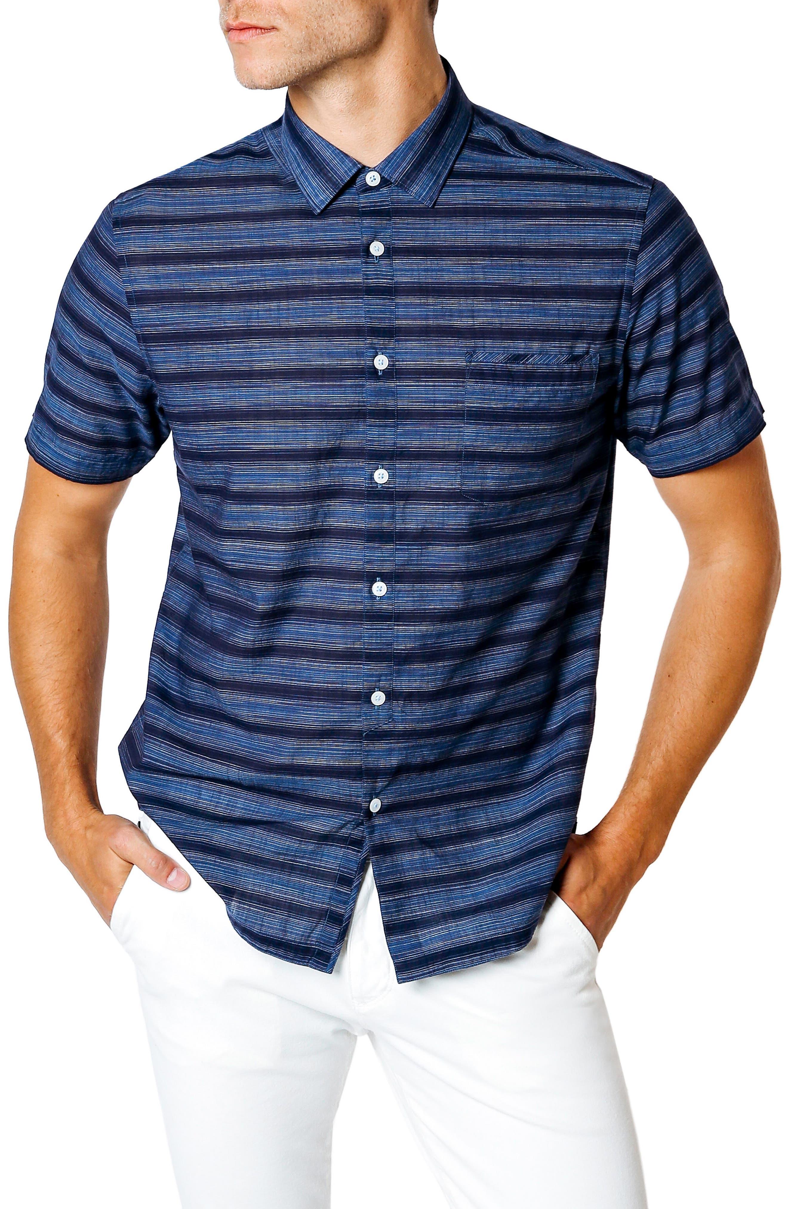 Good Man Brand Slim Fit Short Sleeve Sport Shirt