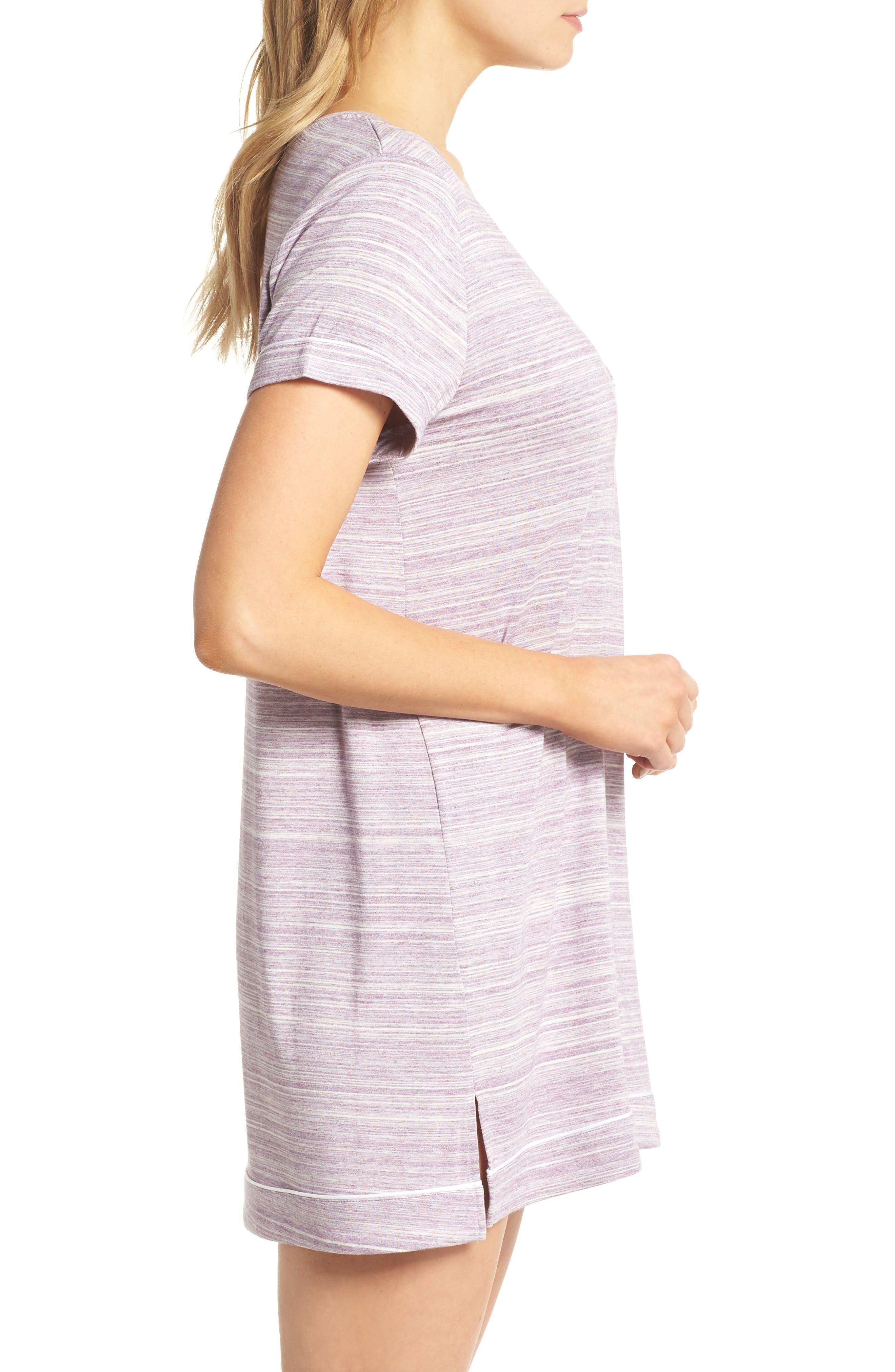 Moonlight Sleep Shirt,                             Alternate thumbnail 3, color,                             Purple Spacedye