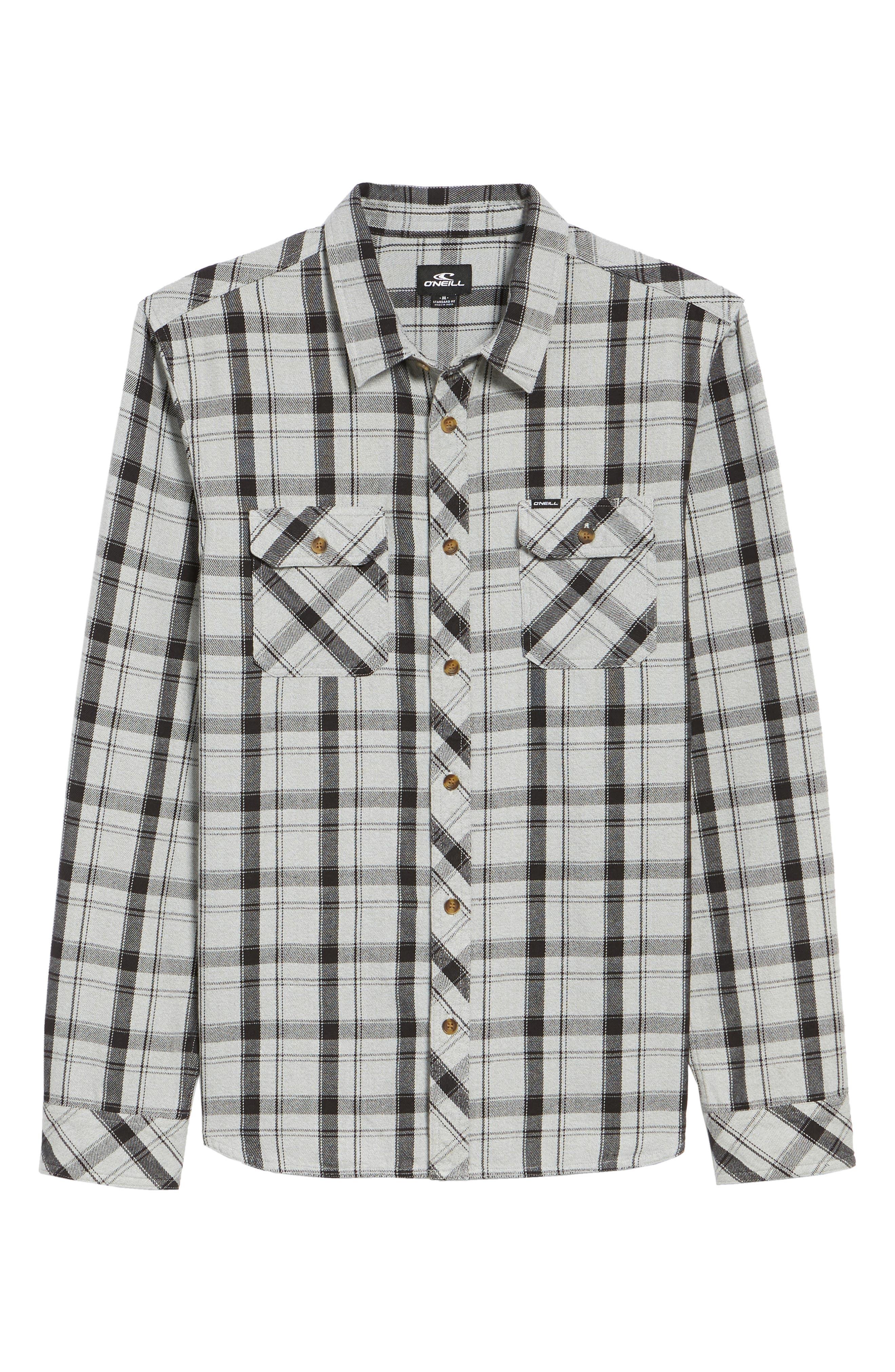Carpenter Flannel Shirt,                         Main,                         color, Fog