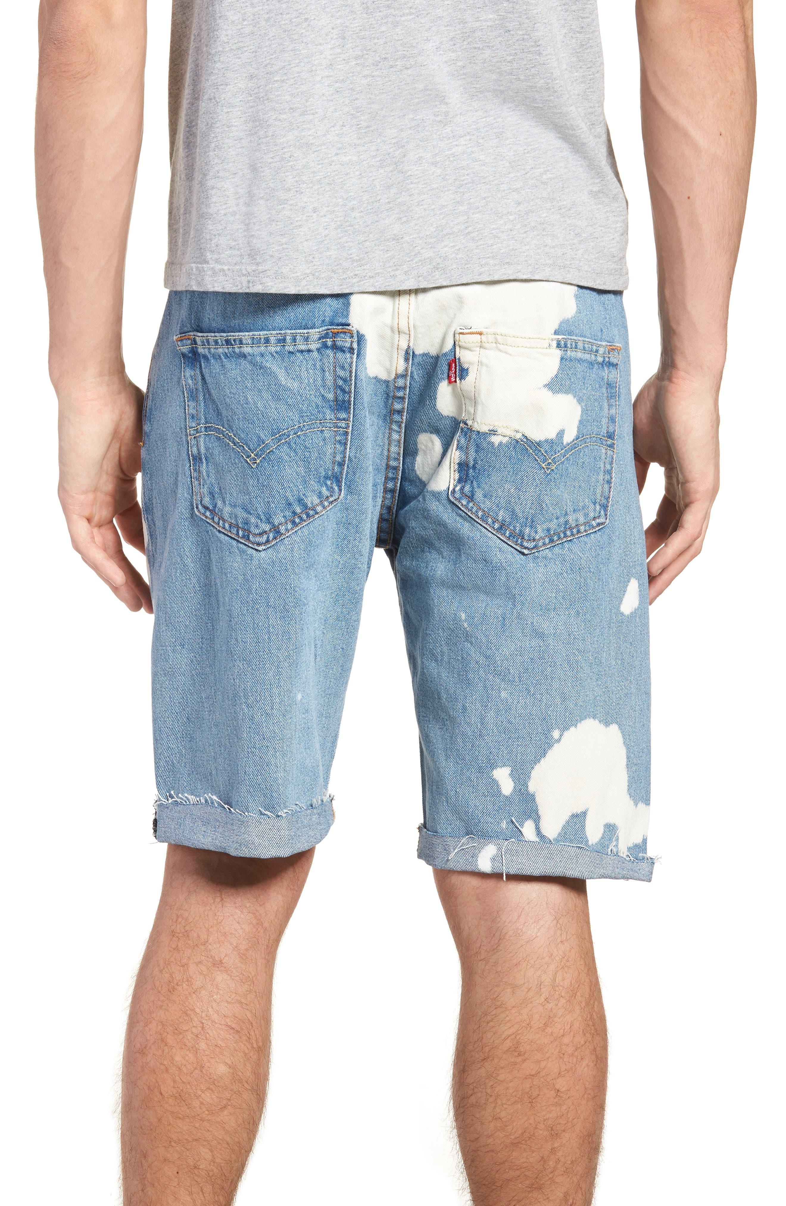 501<sup>®</sup> Cutoff Denim Shorts,                             Alternate thumbnail 2, color,                             Lifes A Bleach