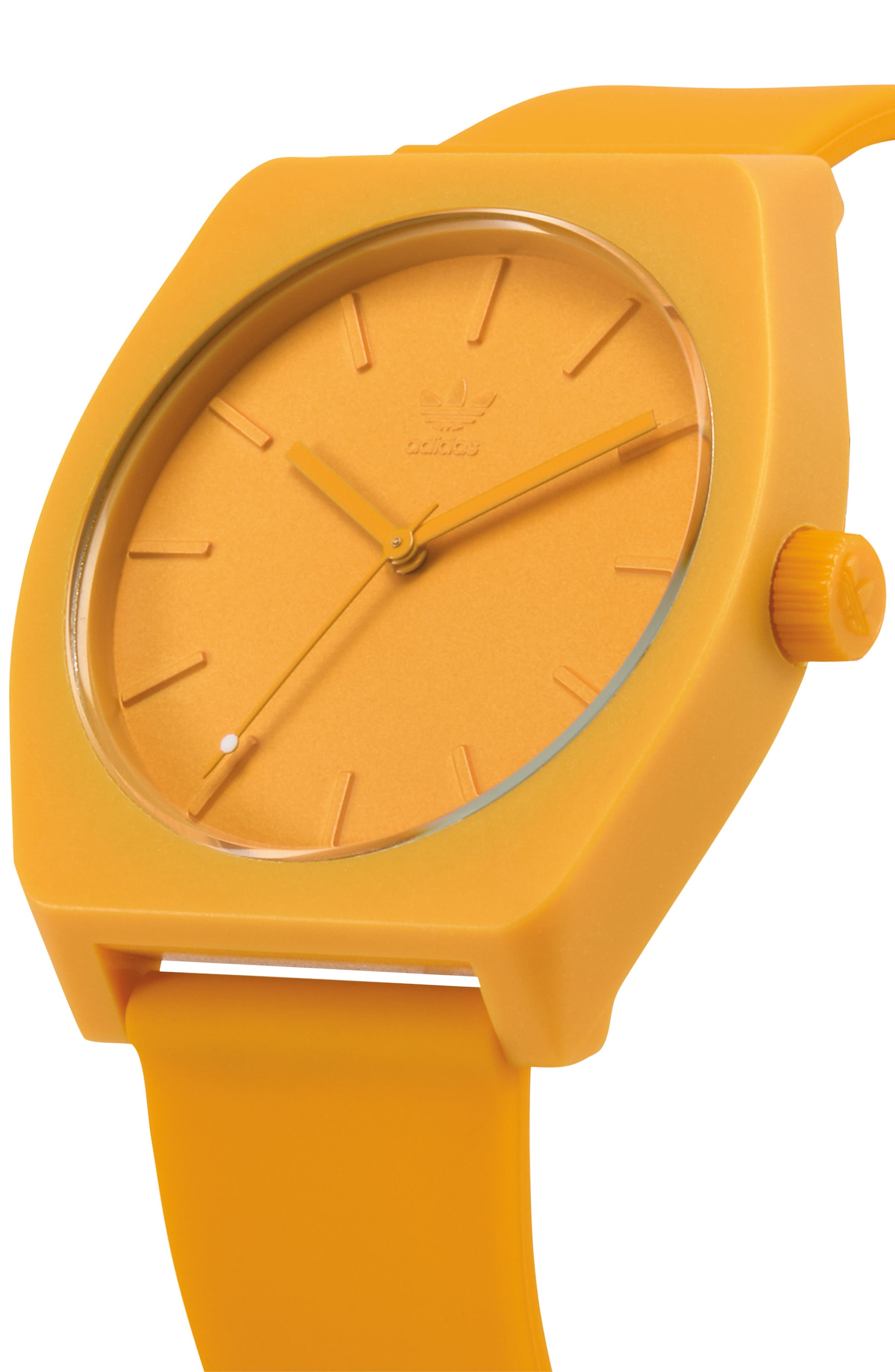 Process Silicone Strap Watch, 38mm,                             Alternate thumbnail 5, color,                             Gold