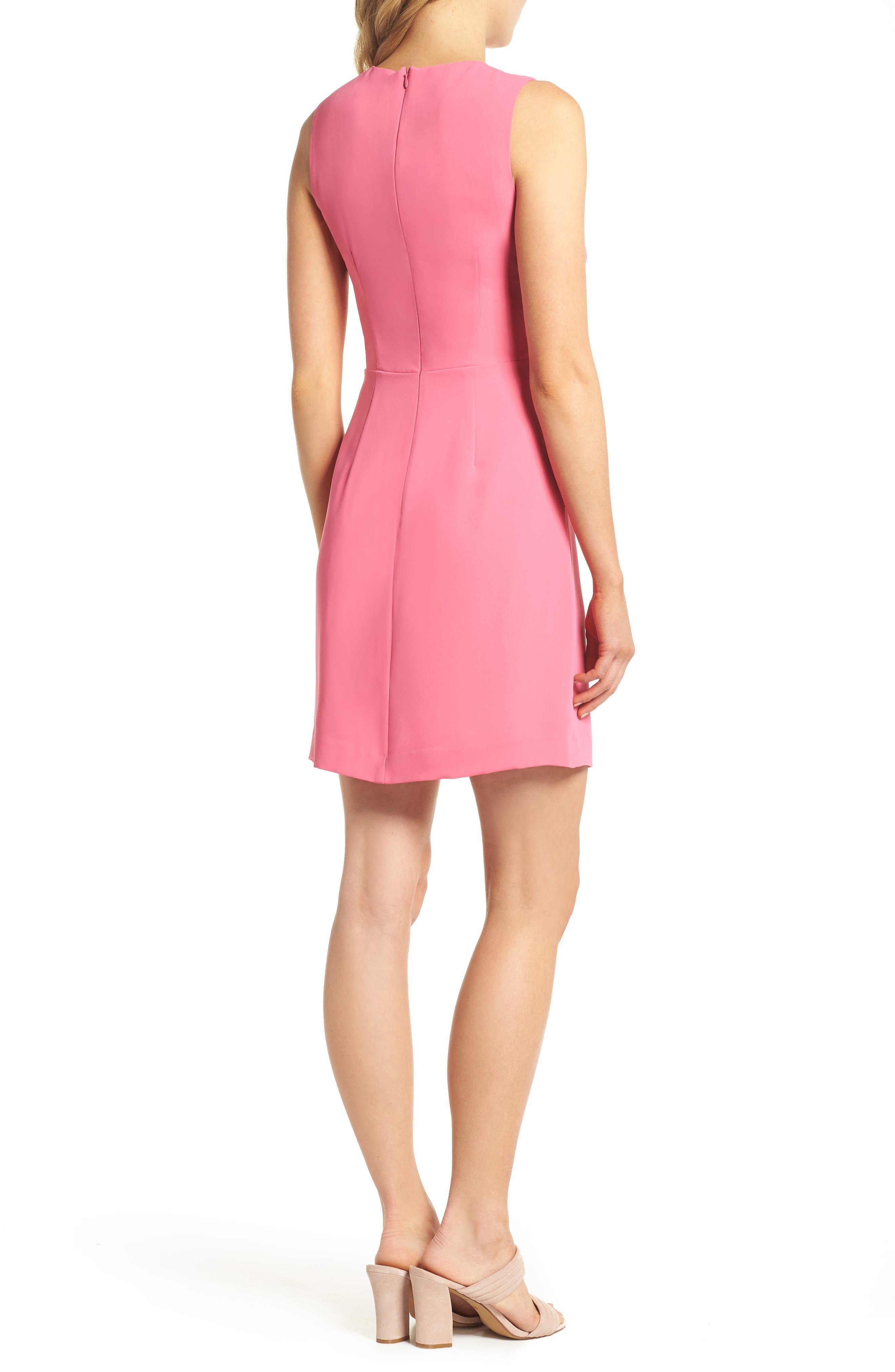 Nera Sheath Dress,                             Alternate thumbnail 2, color,                             Peony