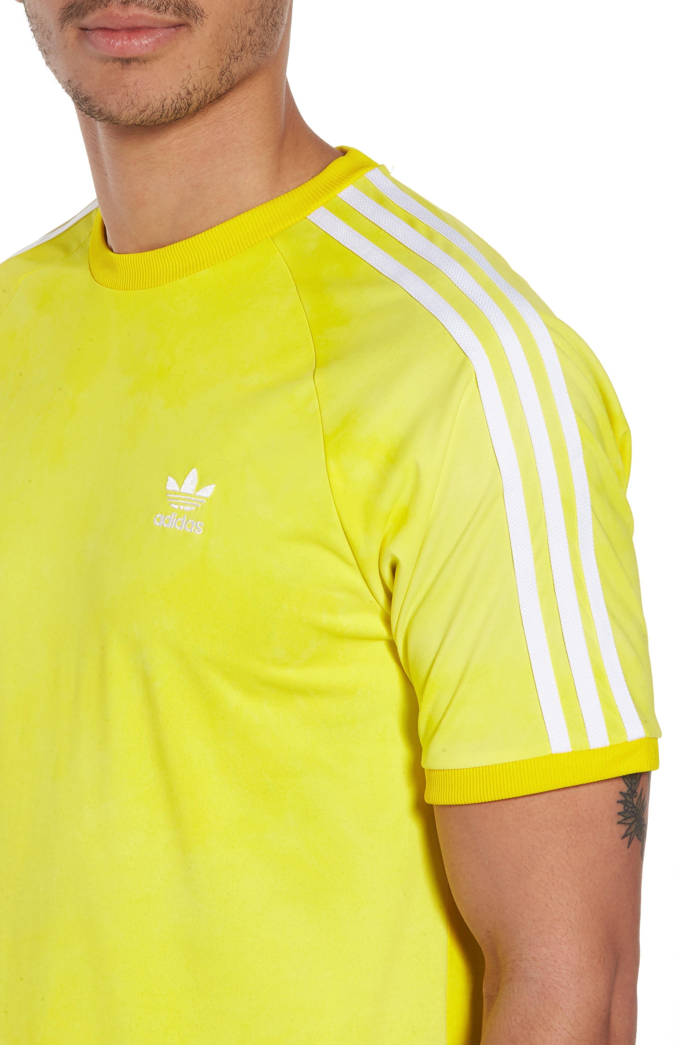 adidas Original Hu Holi T-Shirt,                             Alternate thumbnail 4, color,                             Yellow