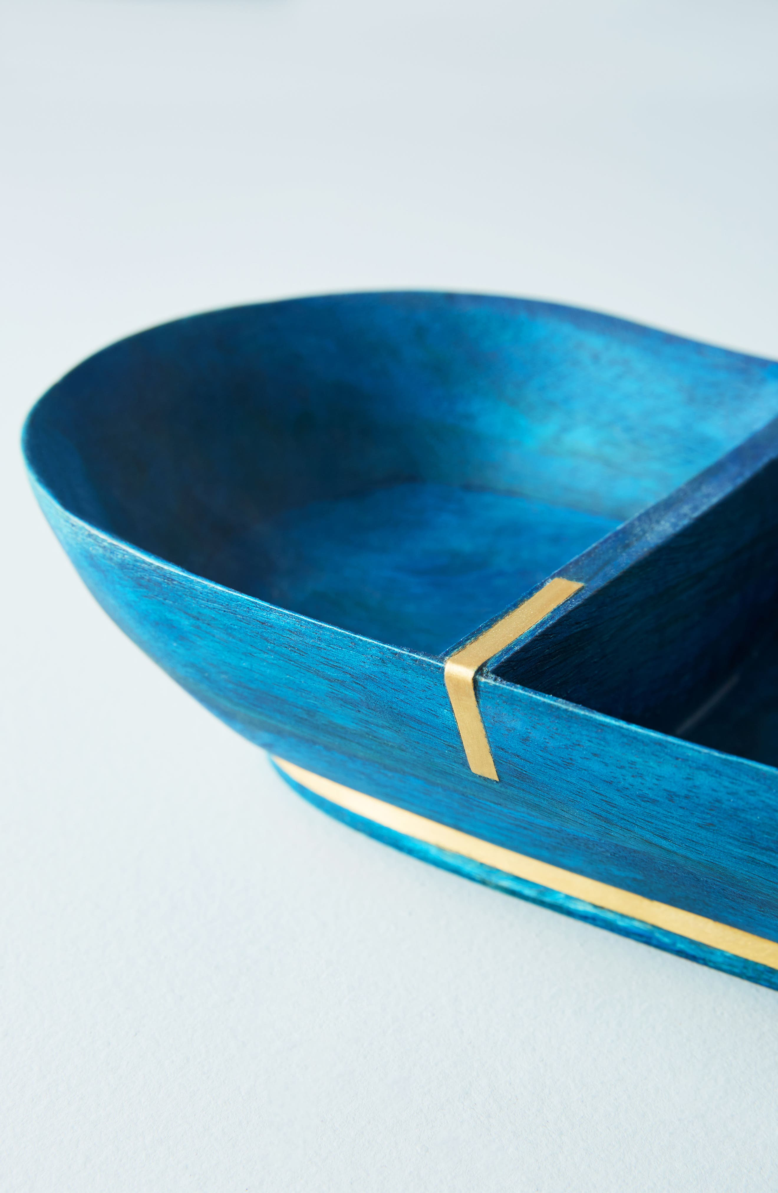 Wood Condiment Tray,                             Alternate thumbnail 2, color,                             Sapphire
