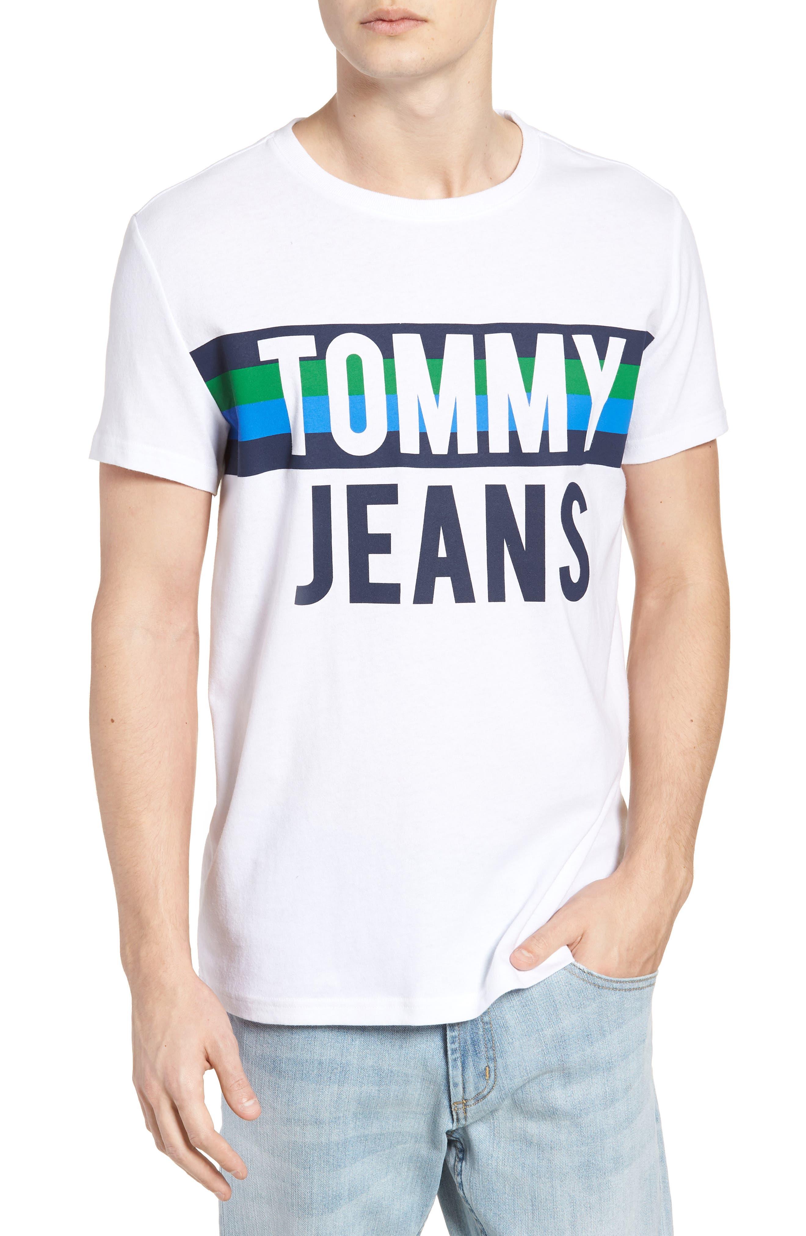 TOMMY JEANS Colorblock Font T-Shirt
