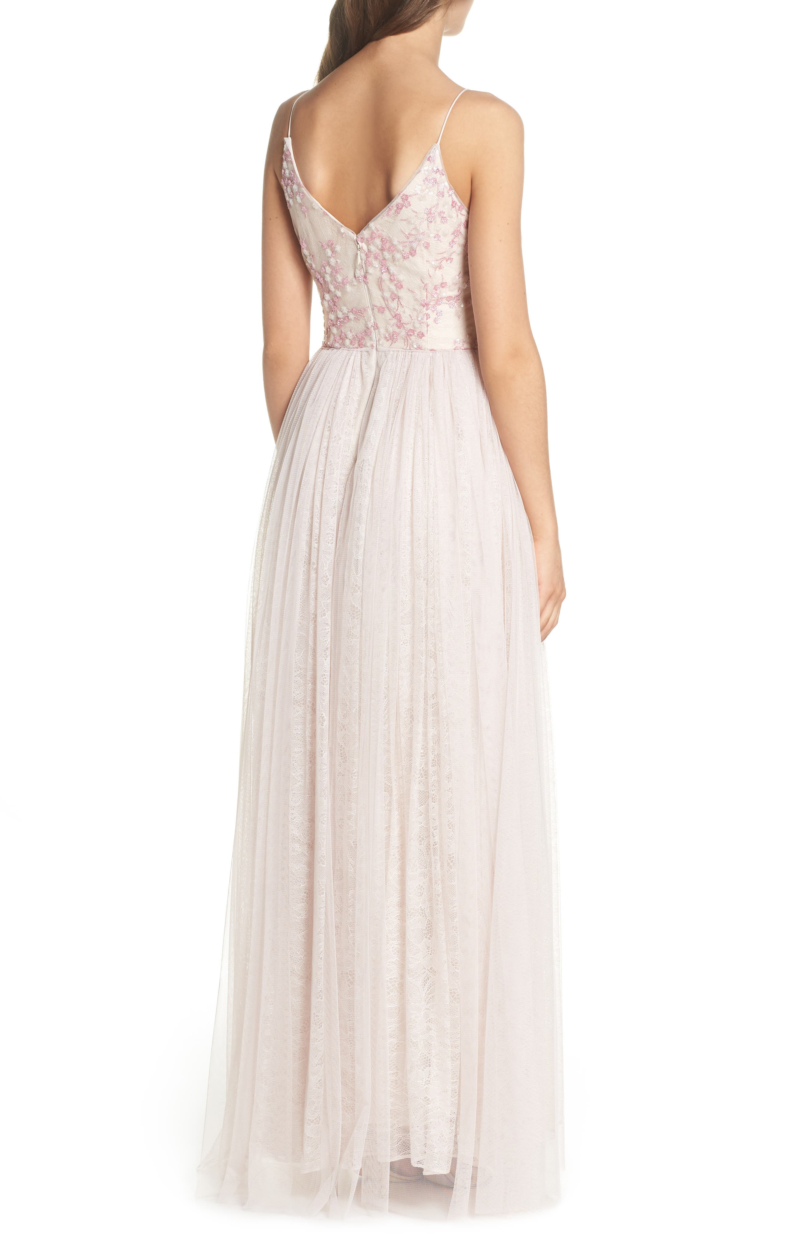 Embellished Bodice Tulle Gown,                             Alternate thumbnail 2, color,                             Pink
