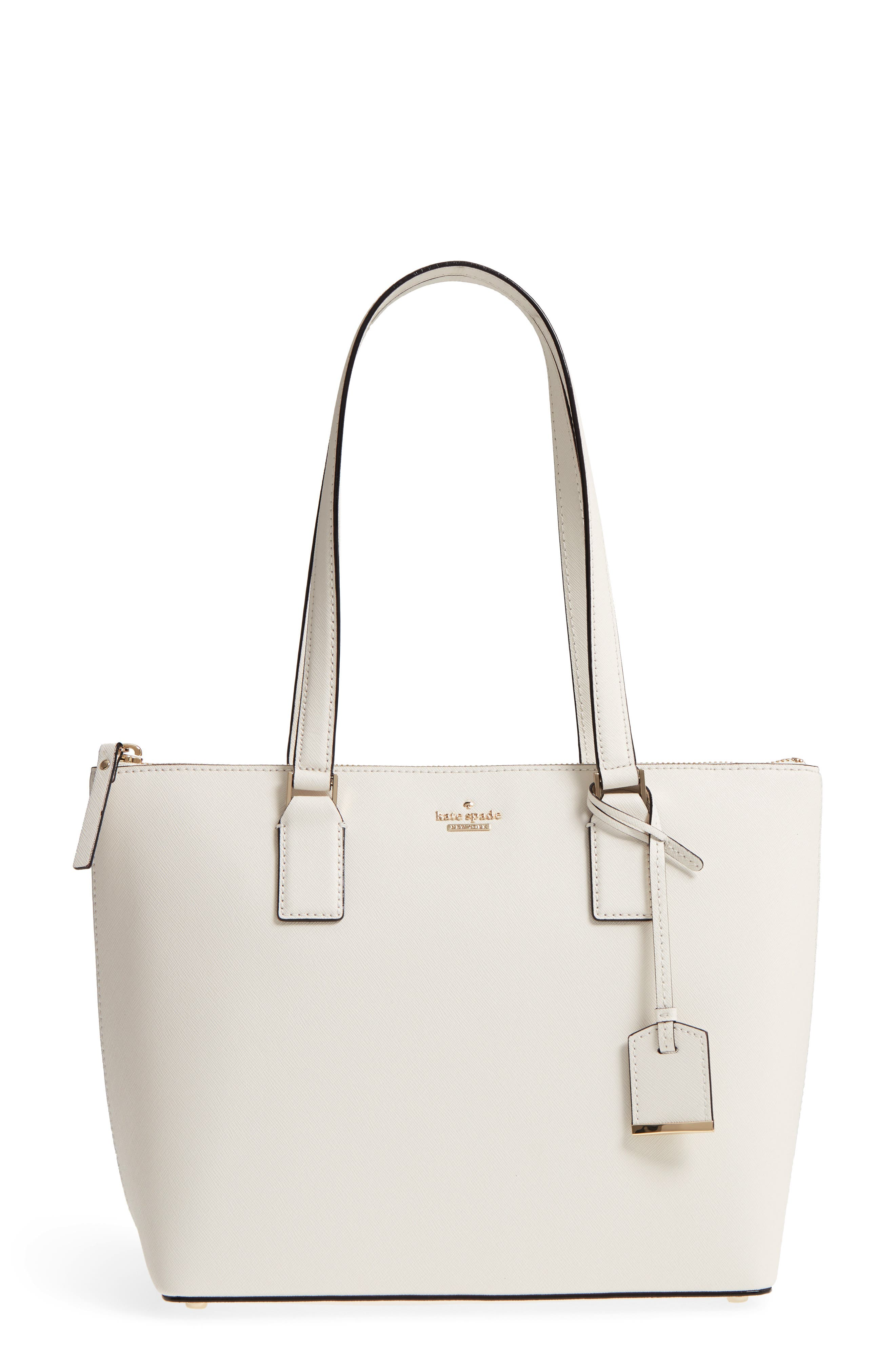 cameron street - small lucie leather tote,                         Main,                         color, Cement