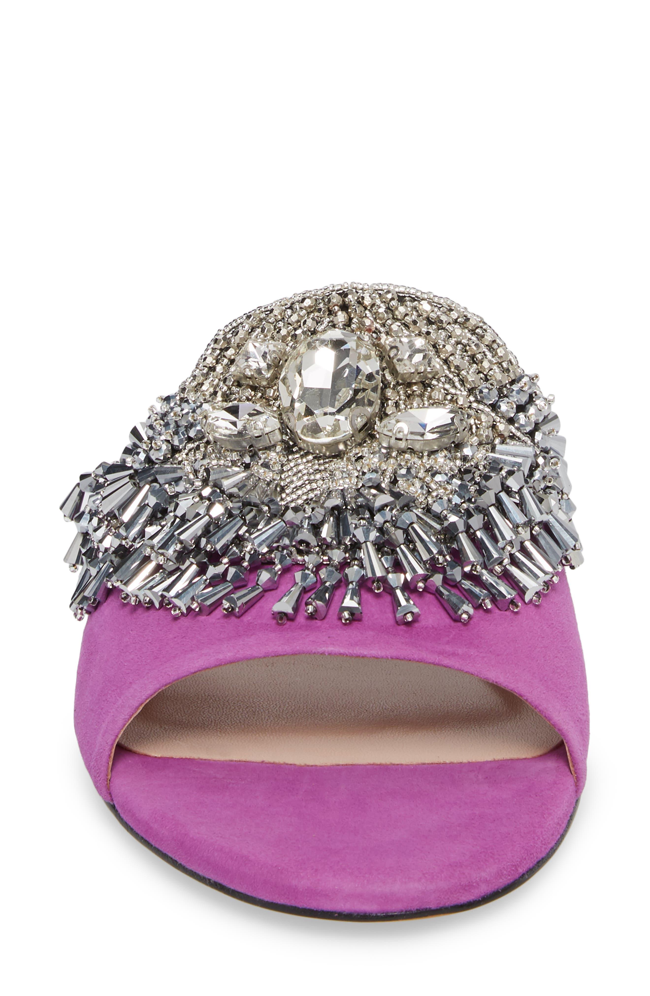 Alternate Image 4  - James Chan Jallie Crystal Embellished Slide (Women)