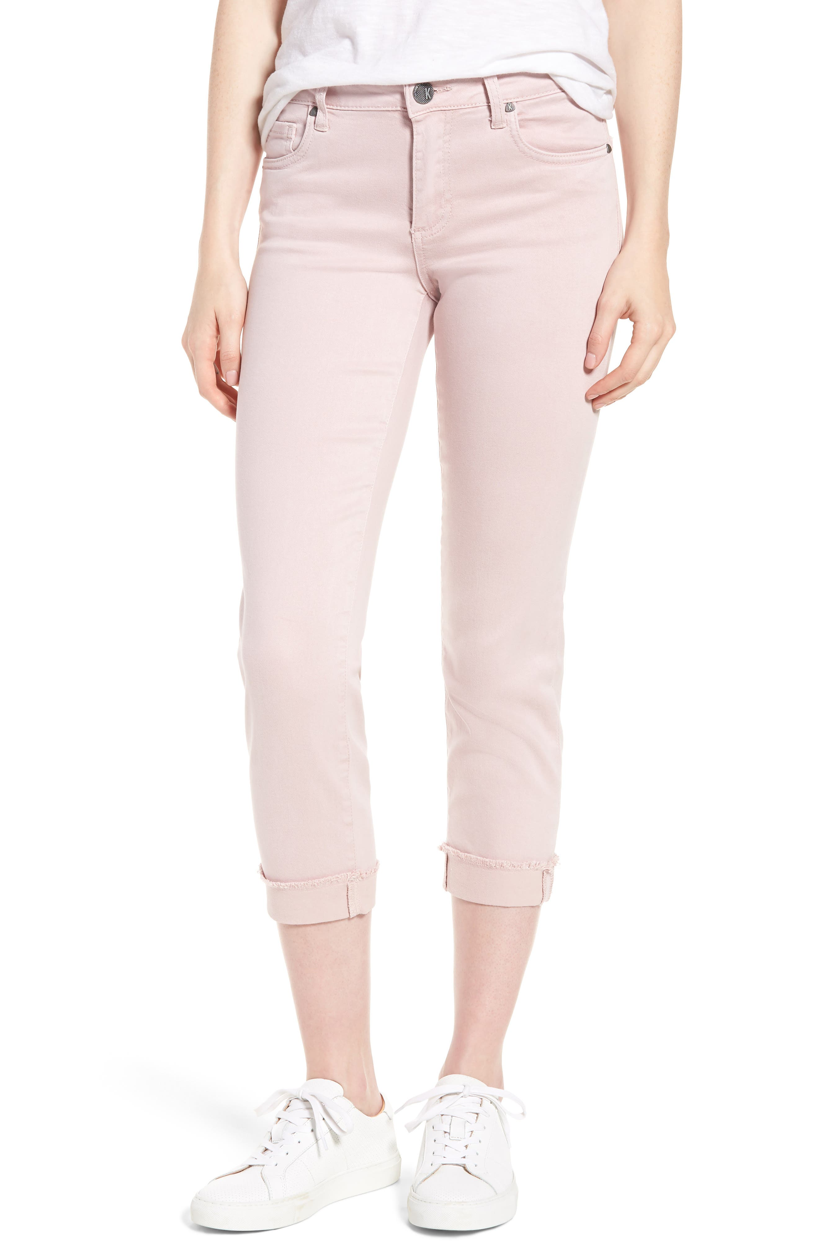 KUT from the Kloth Amy Crop Skinny Jeans,                             Main thumbnail 1, color,                             Rose