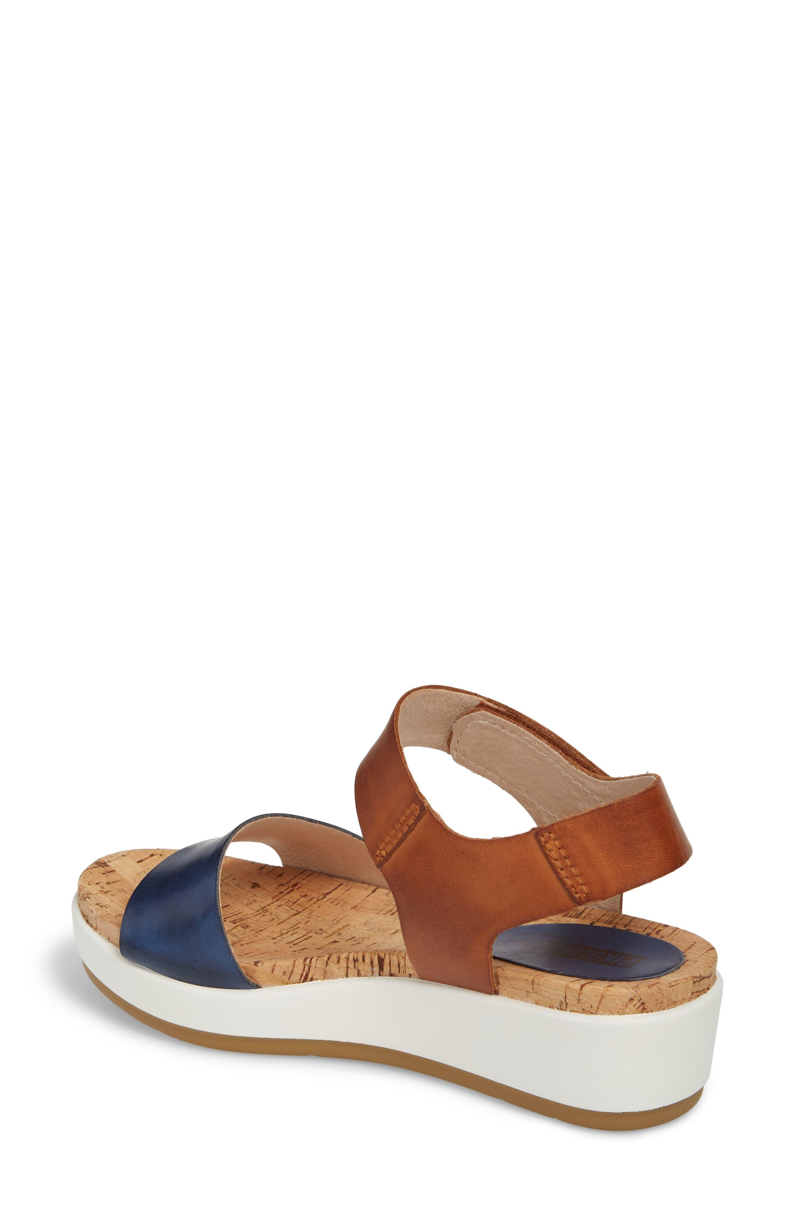 Mykonos Sport Sandal,                             Alternate thumbnail 2, color,                             Royal Blue Leather