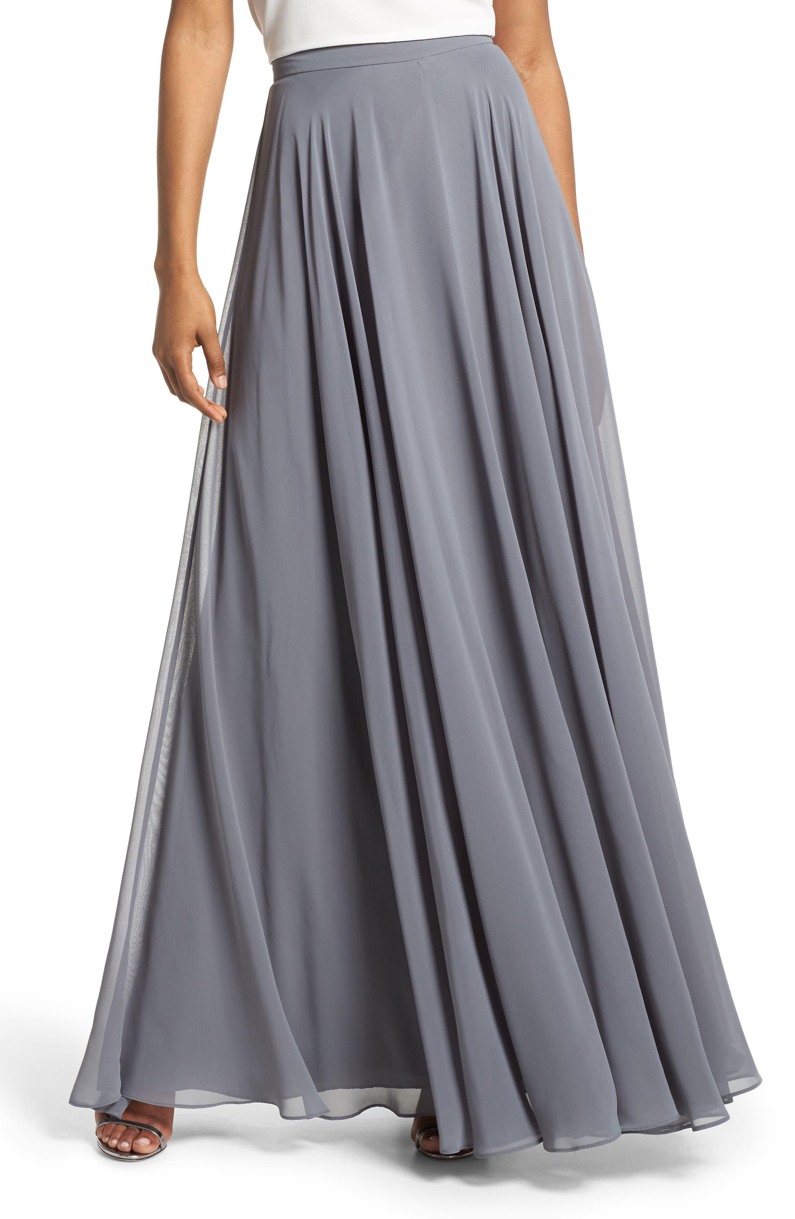 Image result for Hampton Long A-Line Chiffon Skirt JENNY YOO