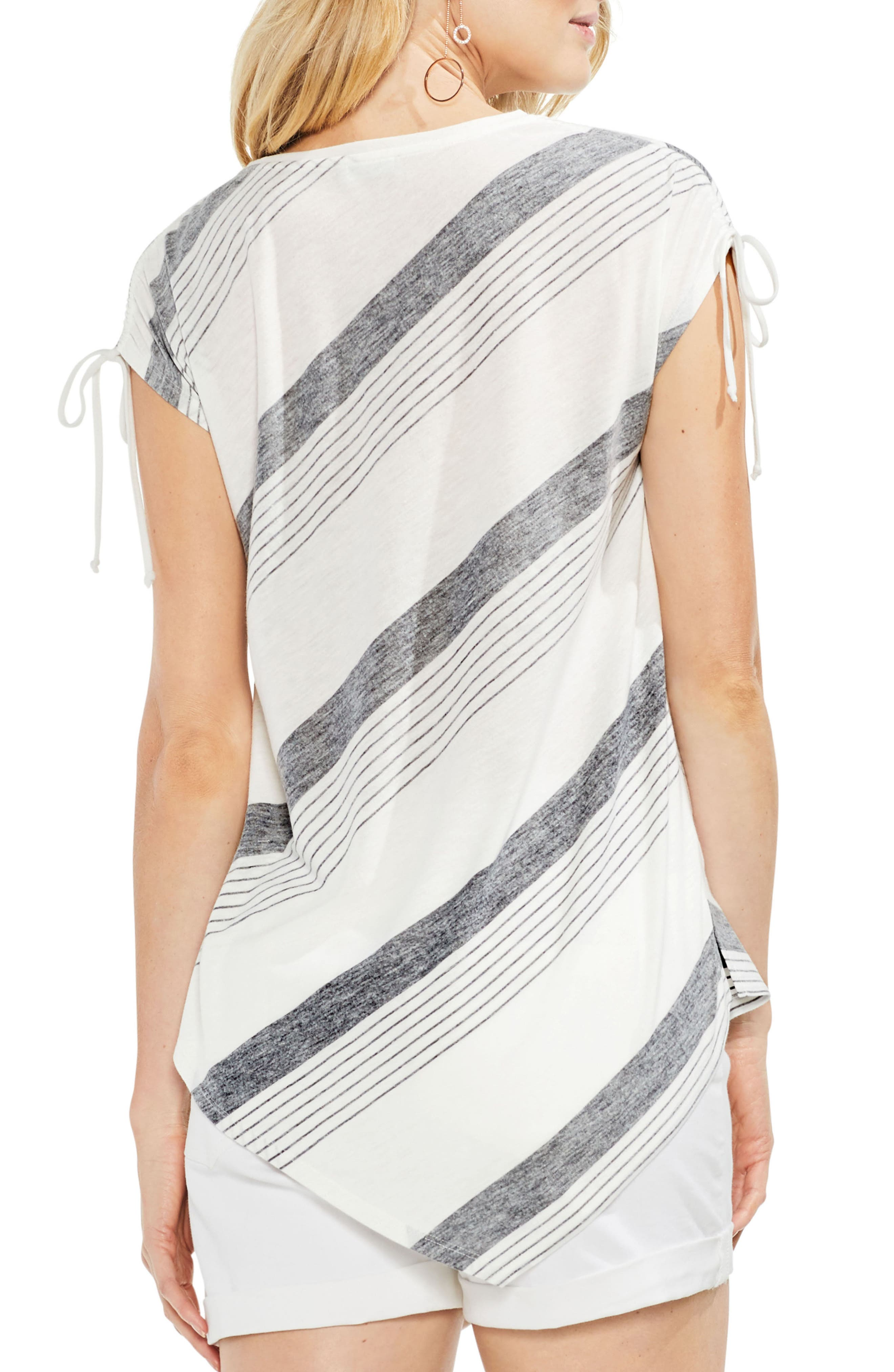 Stripe Asymmetrical Top,                             Alternate thumbnail 2, color,                             Rich Black