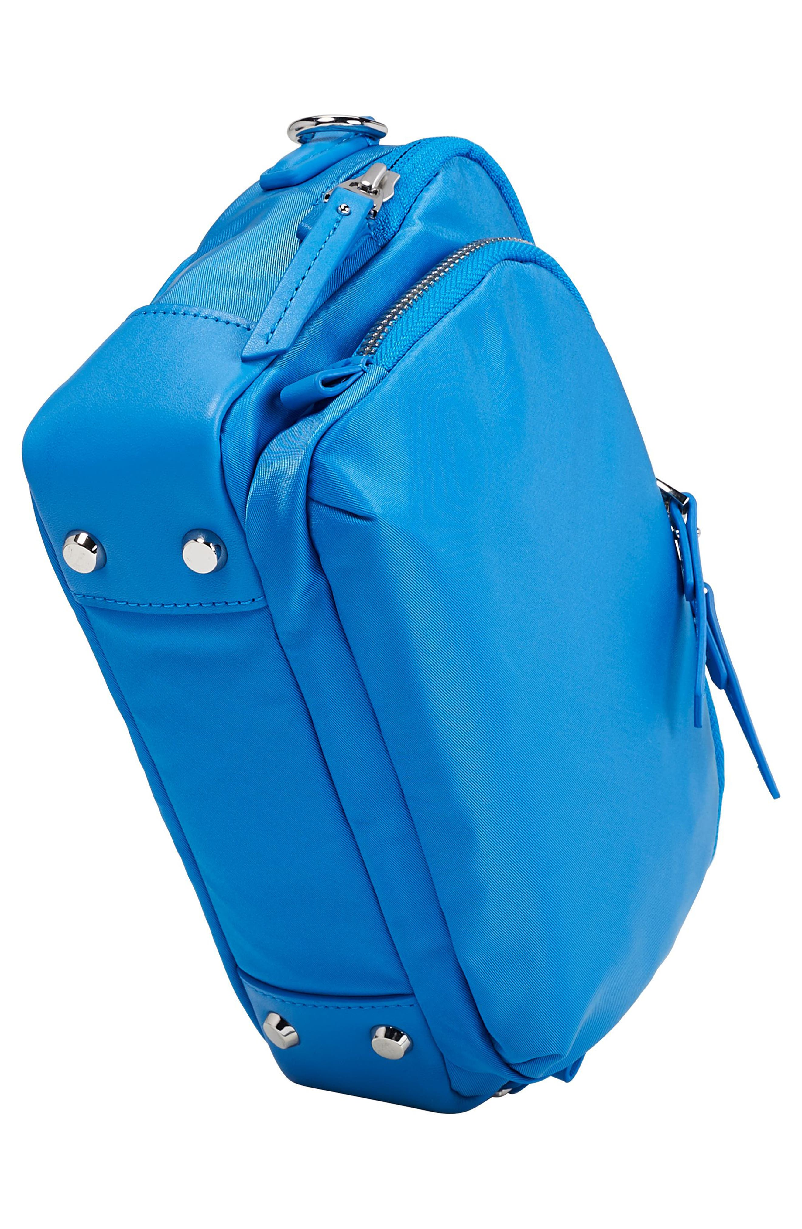 Luanda Crossbody Flight Bag,                             Alternate thumbnail 5, color,                             Bright Blue