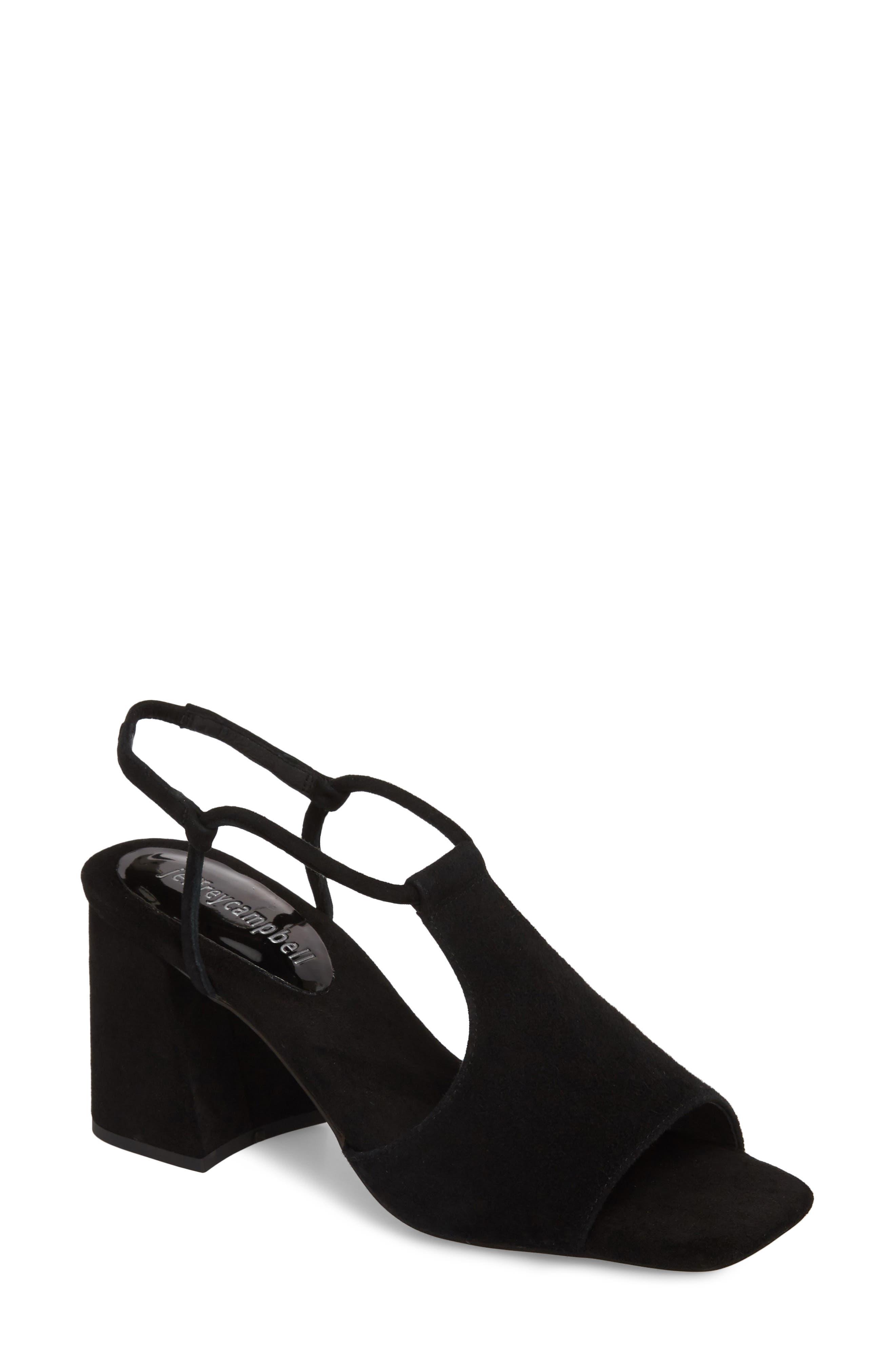Mercedes Halter Sandal,                             Main thumbnail 1, color,                             Black Suede