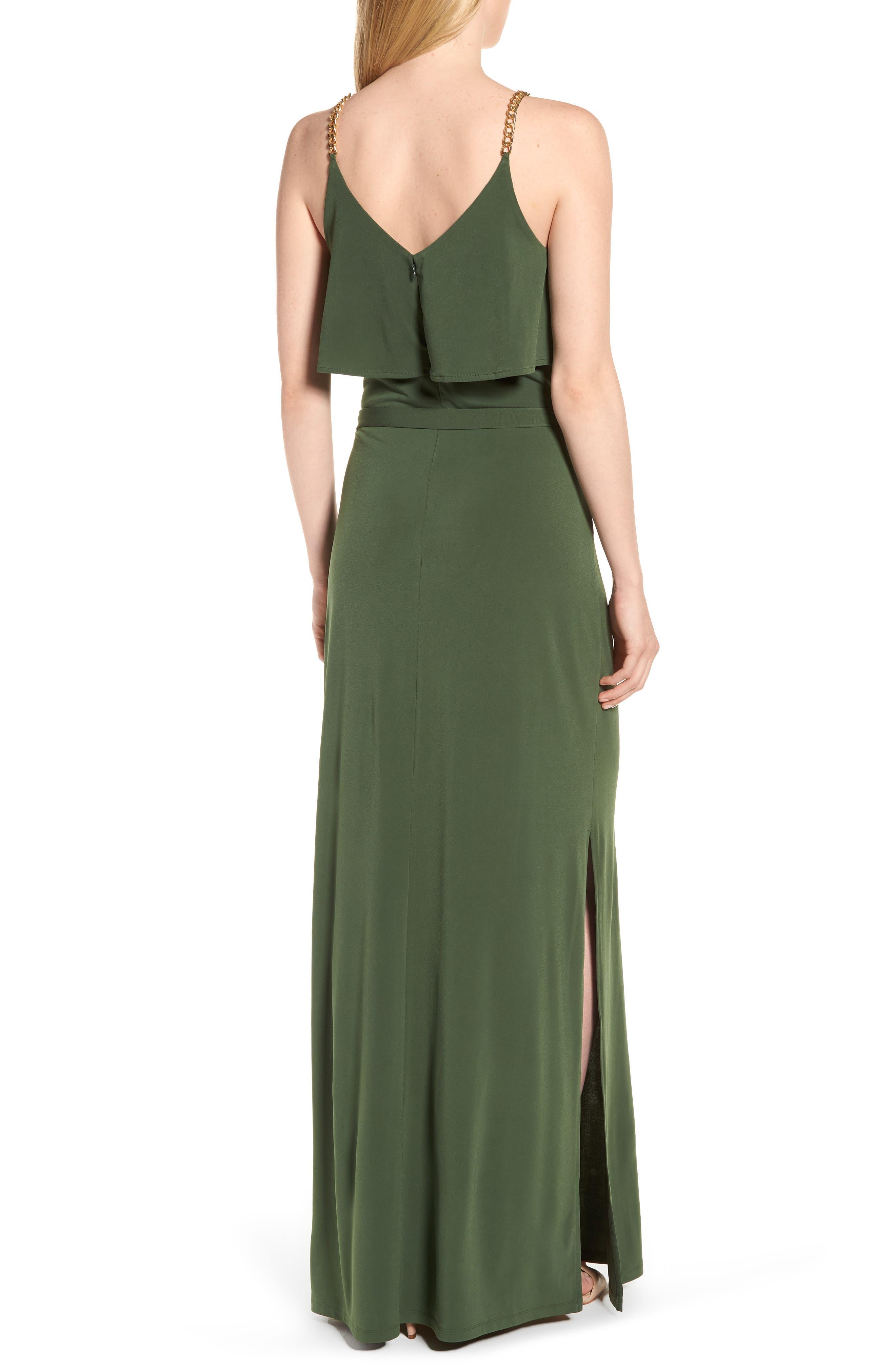 Chain Strap Popover Maxi Dress,                             Alternate thumbnail 2, color,                             Jade