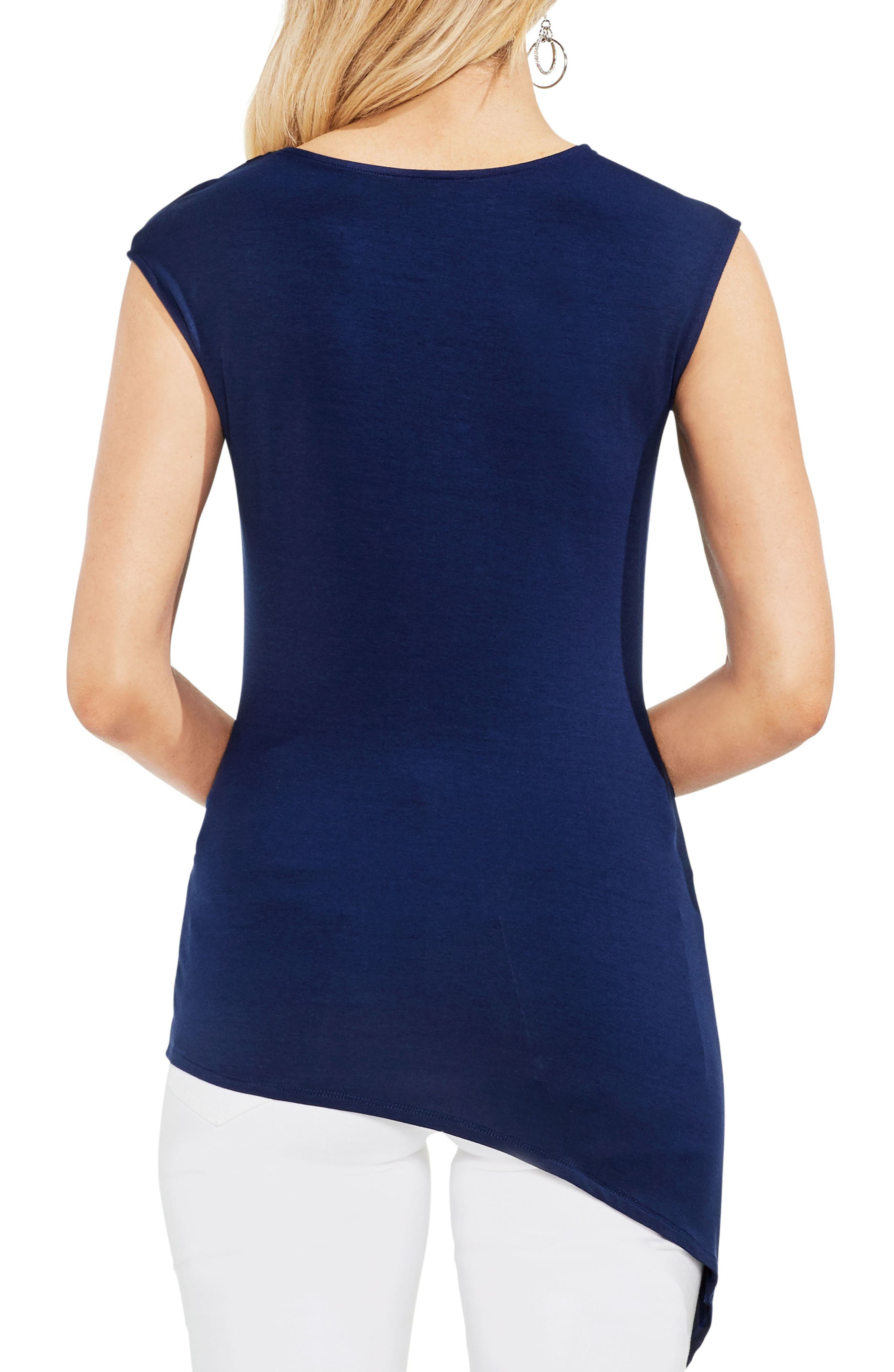 Twist Front Stretch Jersey Top,                             Alternate thumbnail 2, color,                             High Tide