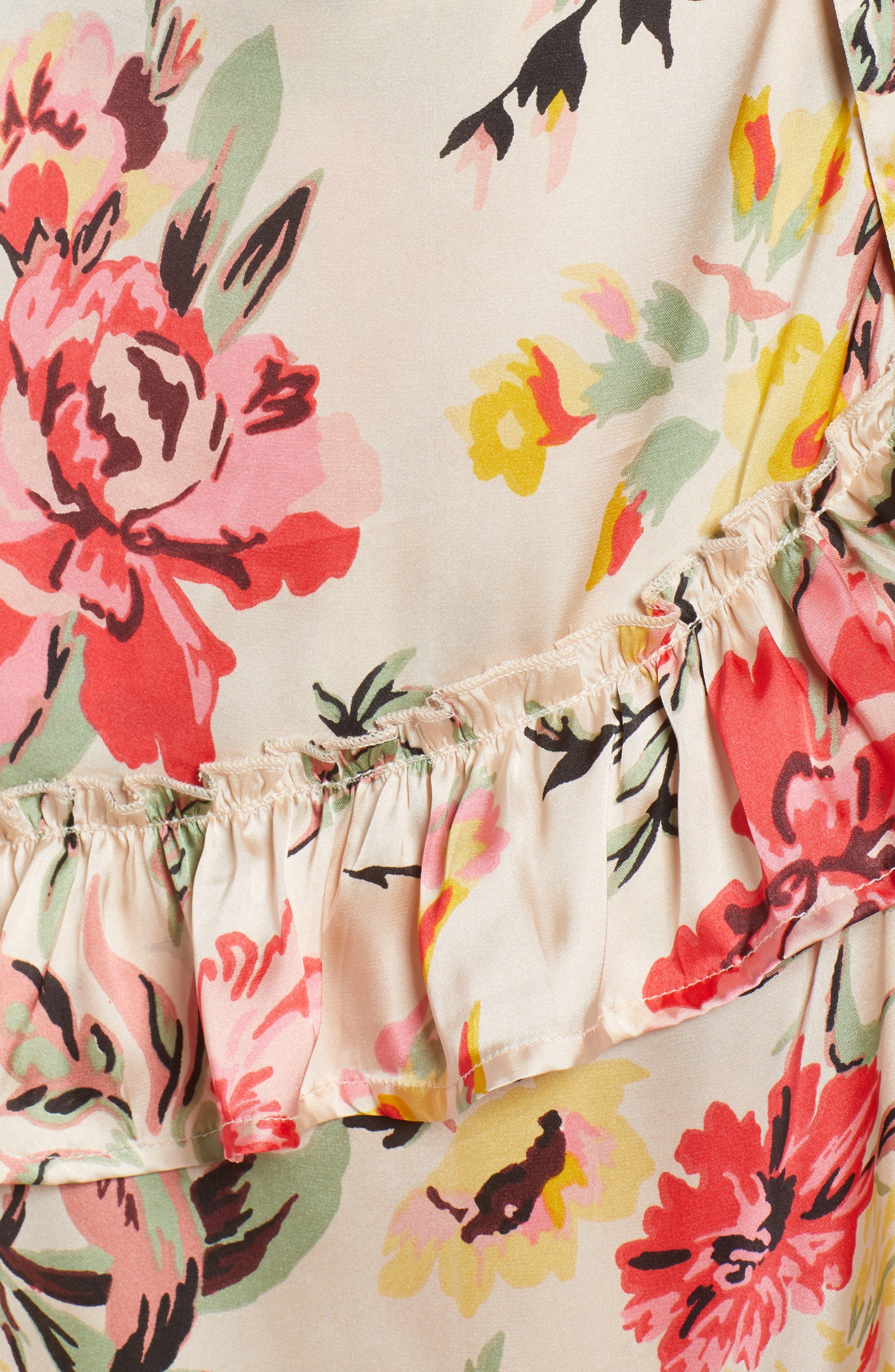 Alternate Image 5  - Love Like Summer x Billabong Ruffle Wrap Dress