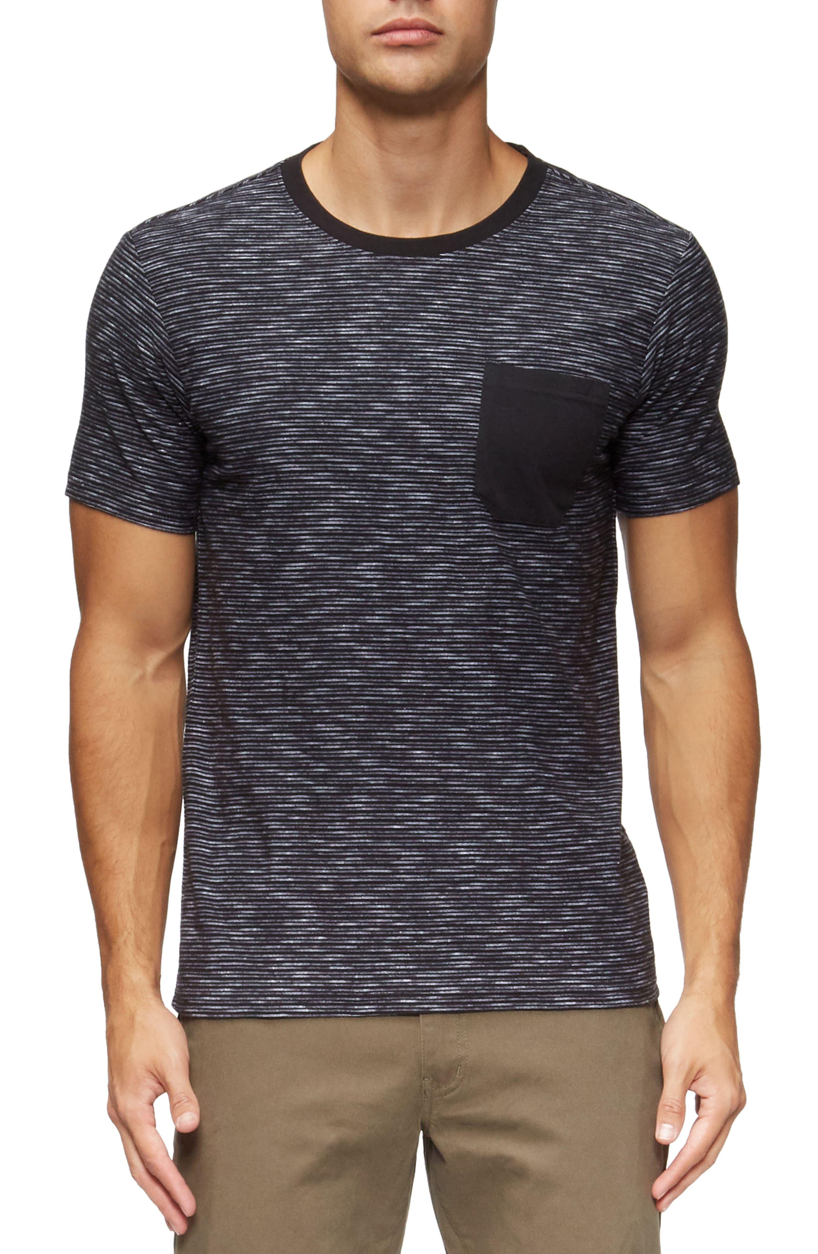 Redondo Stripe Pocket T-Shirt,                             Main thumbnail 1, color,                             Black/ White Stripe