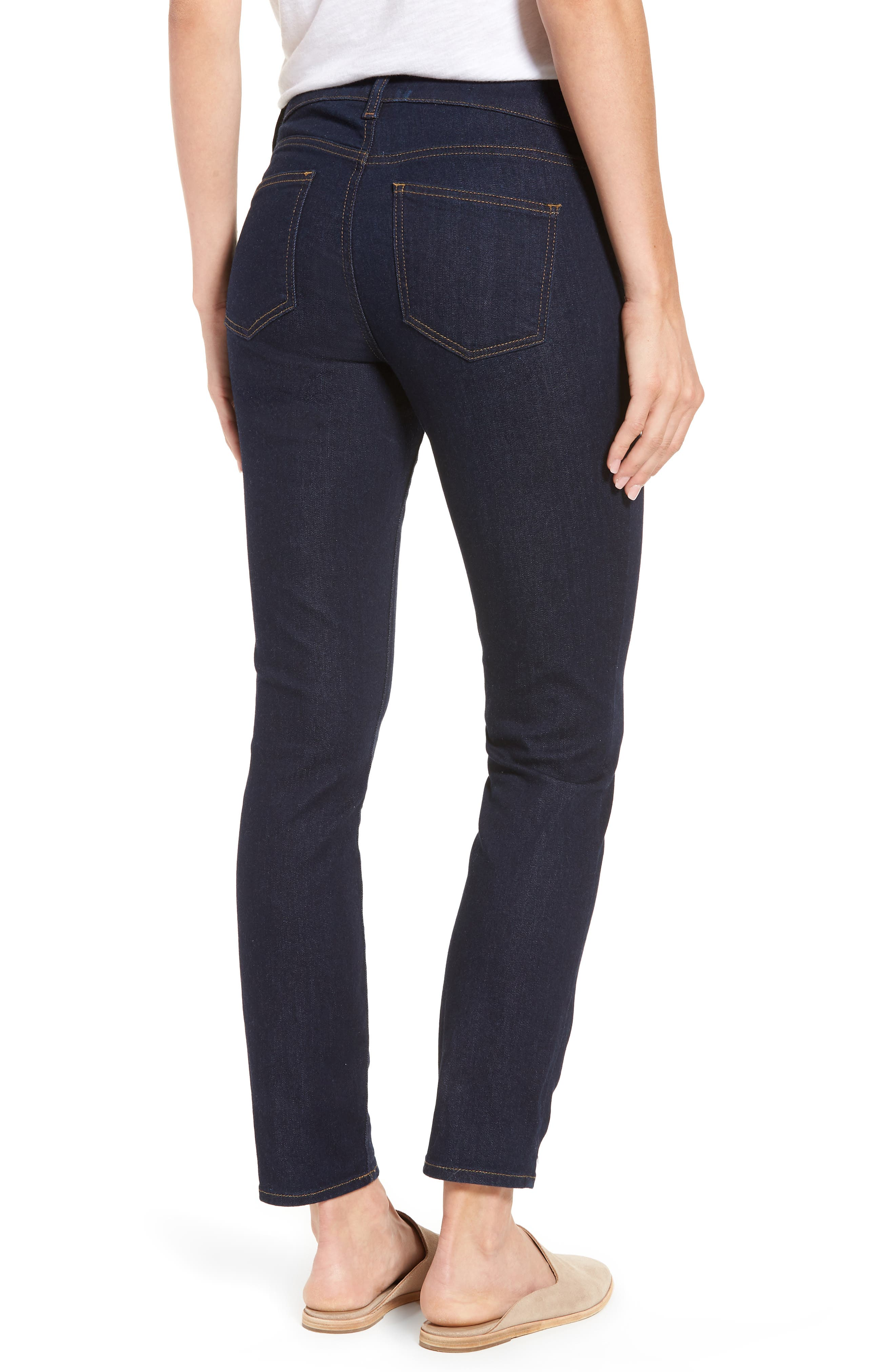 Alina Stretch Skinny Jeans,                             Alternate thumbnail 2, color,                             Rinse