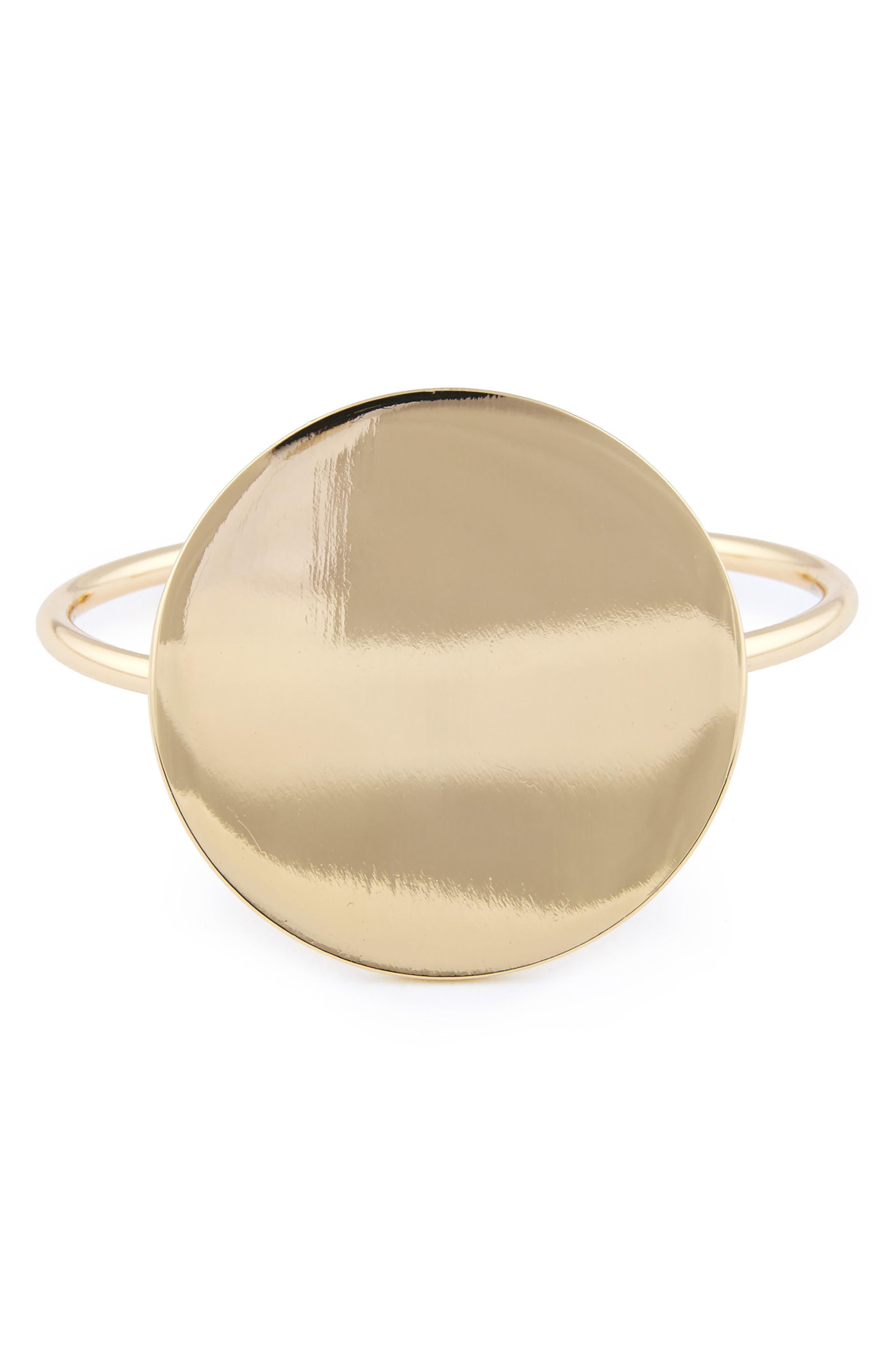 Mirrored Bangle,                         Main,                         color, Gold