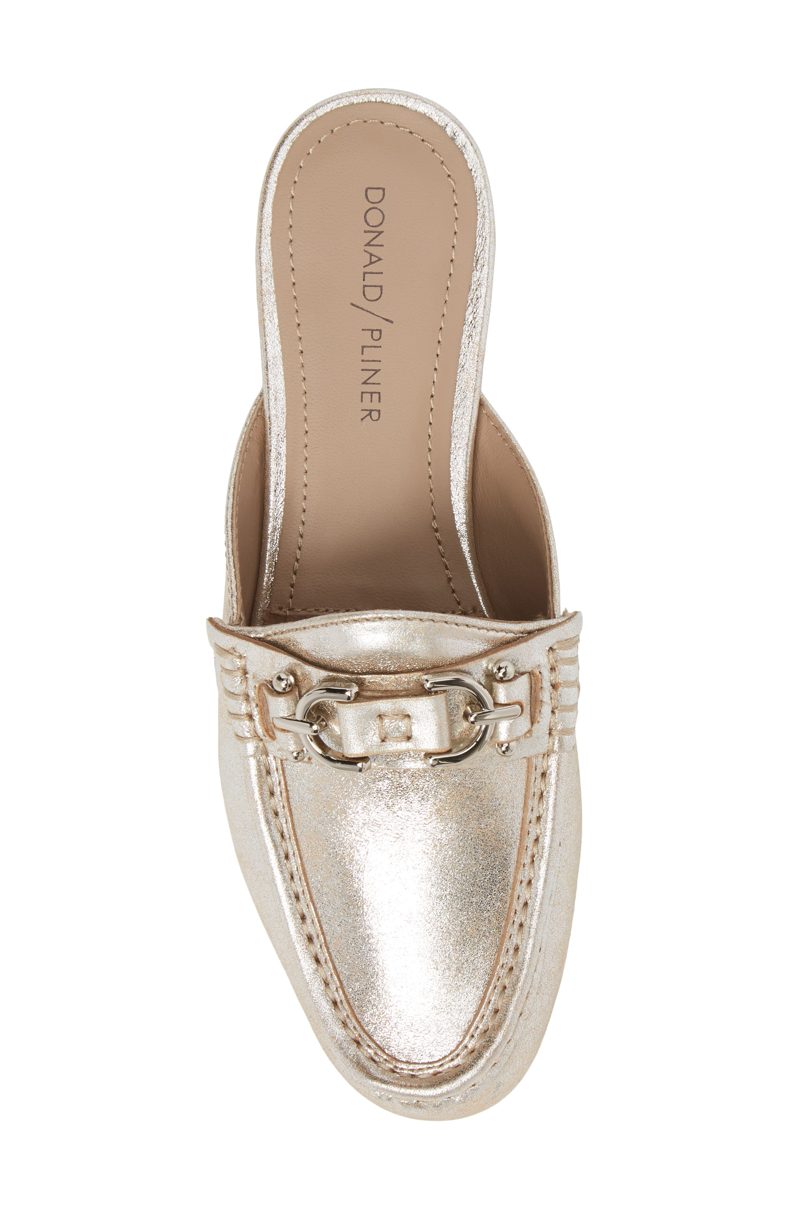 Sylvi Loafer Mule,                             Alternate thumbnail 5, color,                             Silver Leather
