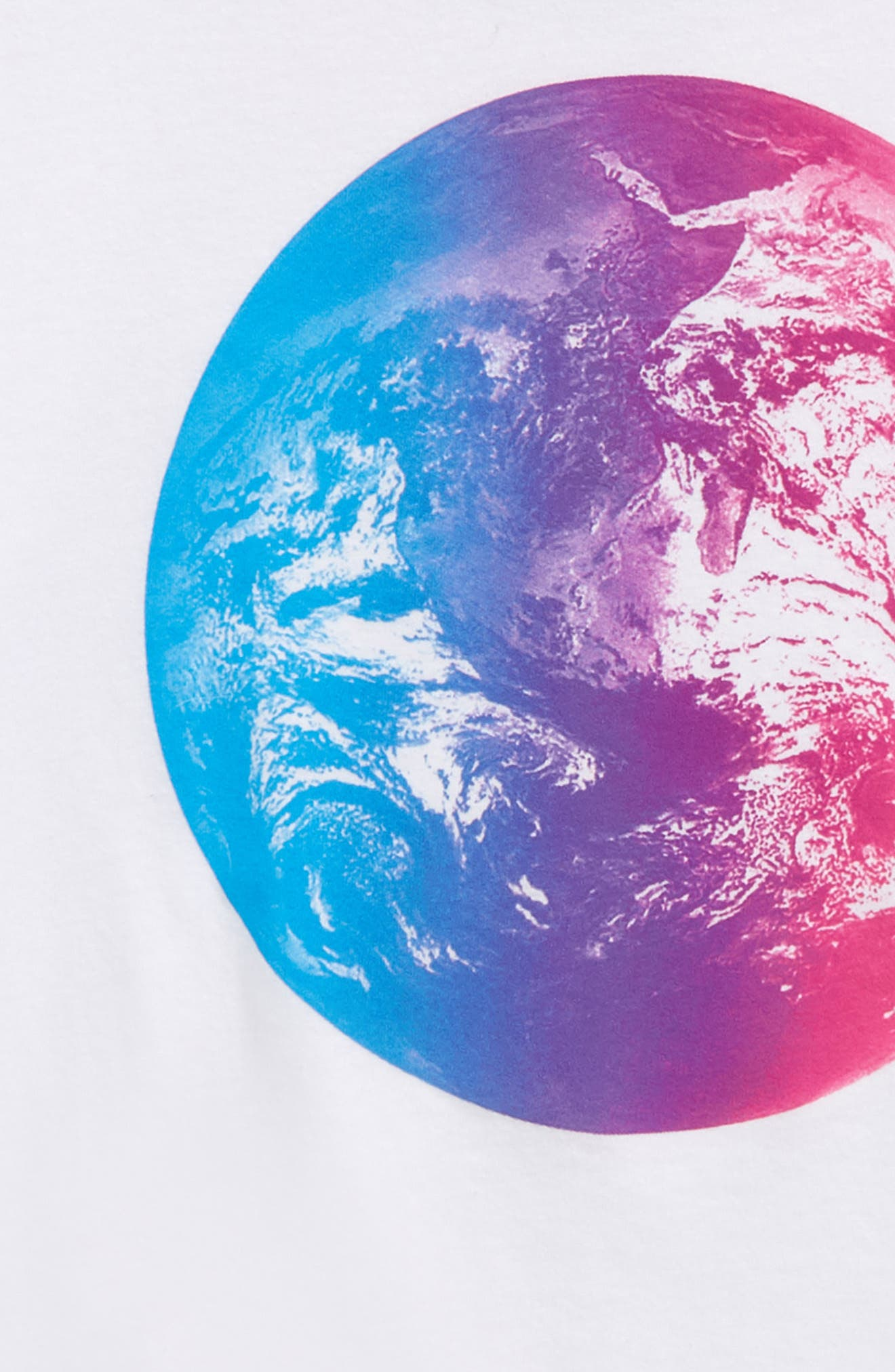 Graphic T-Shirt,                             Alternate thumbnail 2, color,                             White Multi Planet