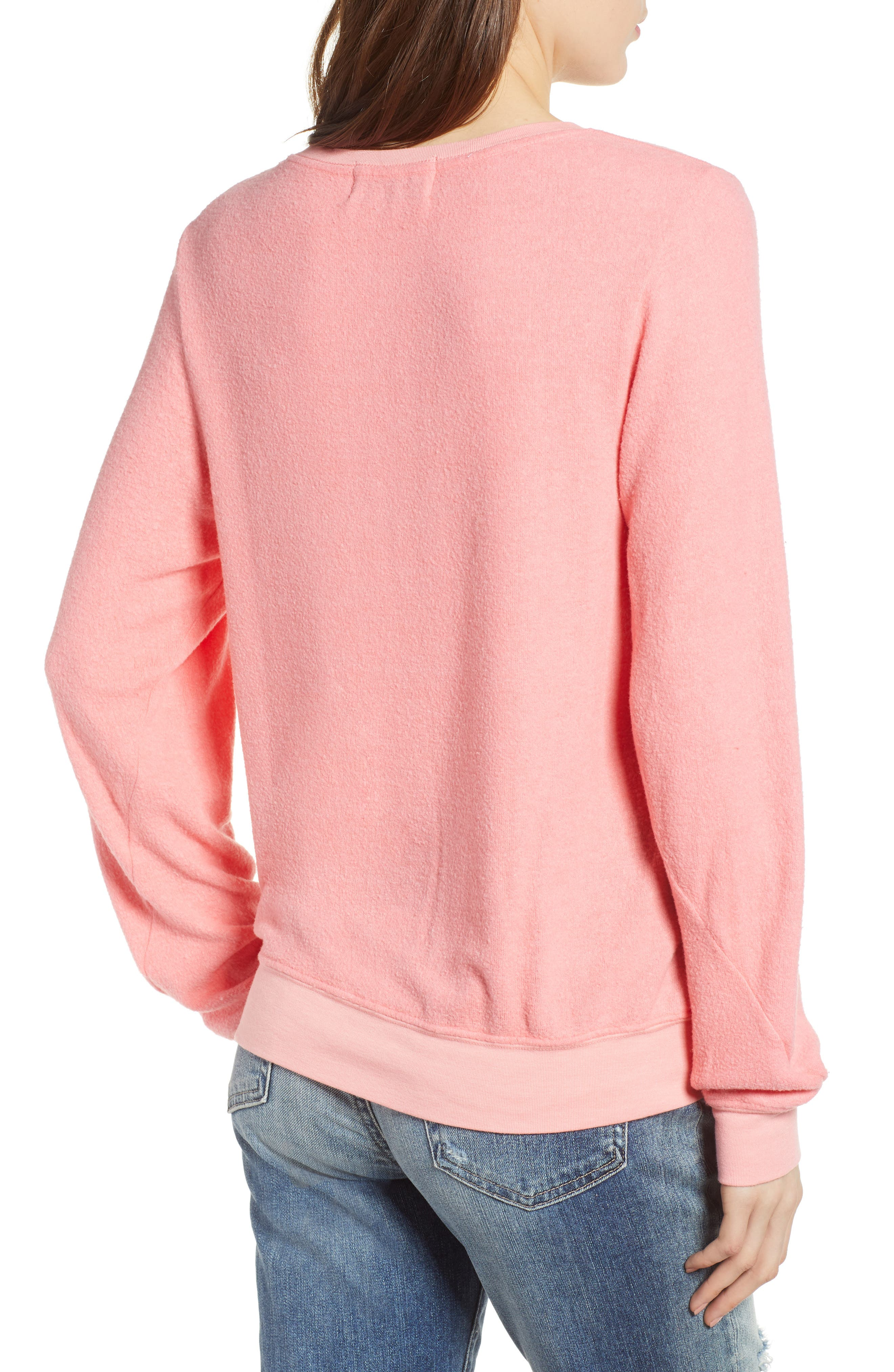 Pardon My French Sweatshirt,                             Alternate thumbnail 2, color,                             Peach Crush