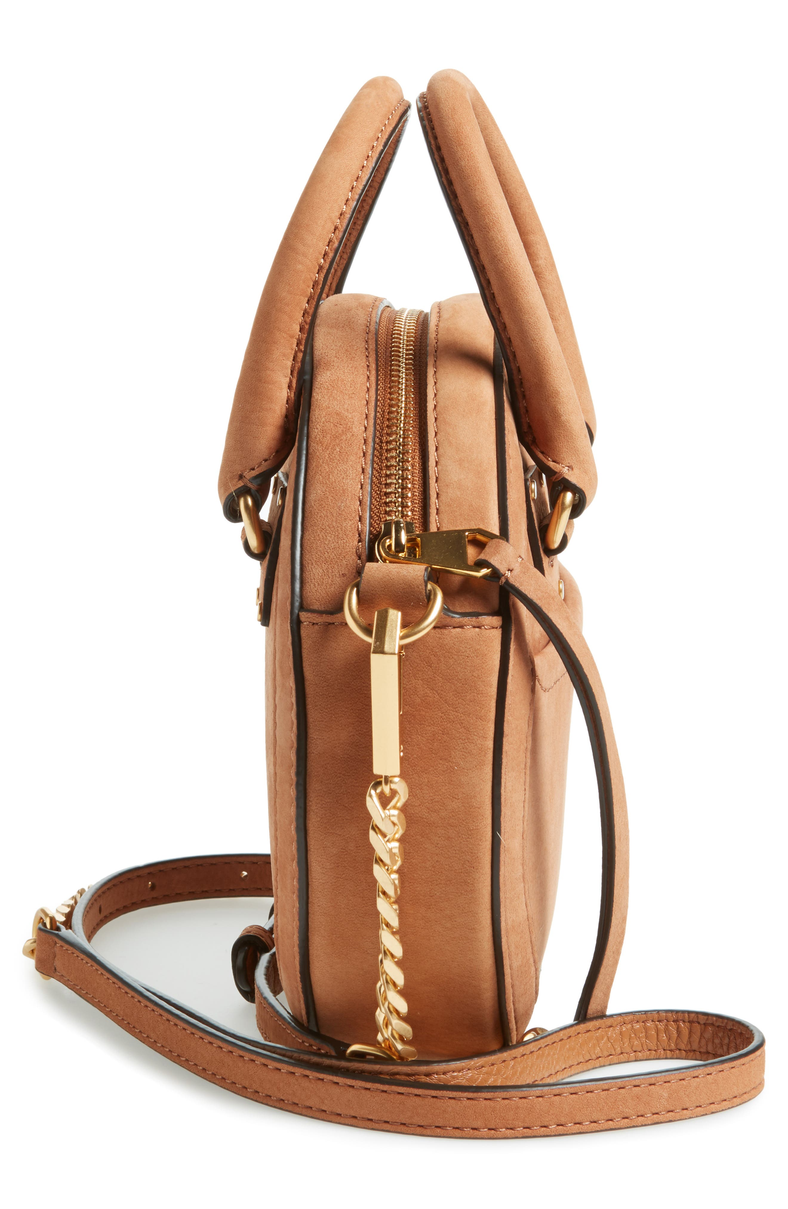Bree Circle Crossbody Bag,                             Alternate thumbnail 5, color,                             Almond