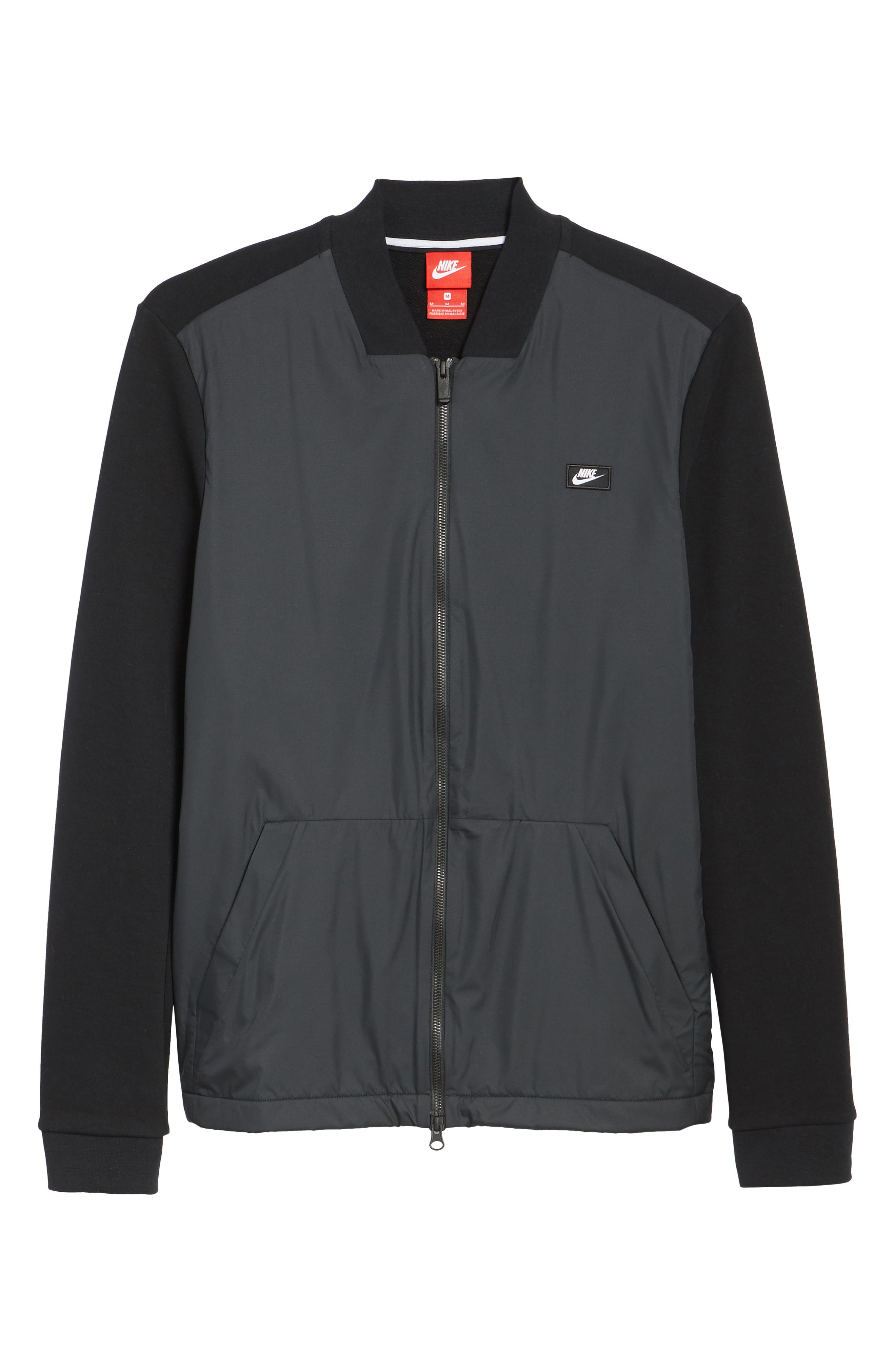 NSW Modern Track Jacket,                             Alternate thumbnail 6, color,                             Black/ Black