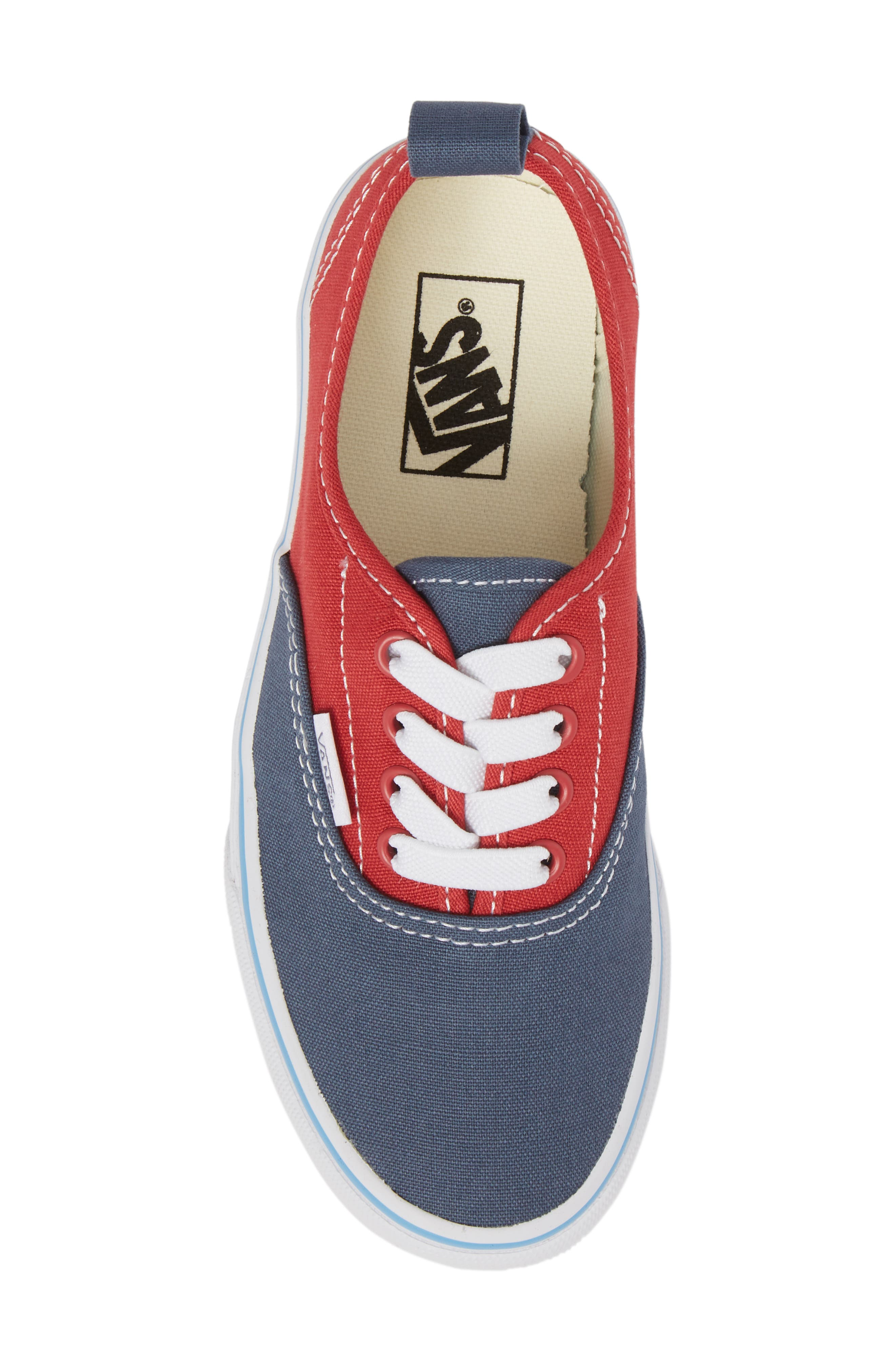 Authentic Low Top Sneaker,                             Alternate thumbnail 5, color,                             Indigo/ Blue/ Red Tri Pop