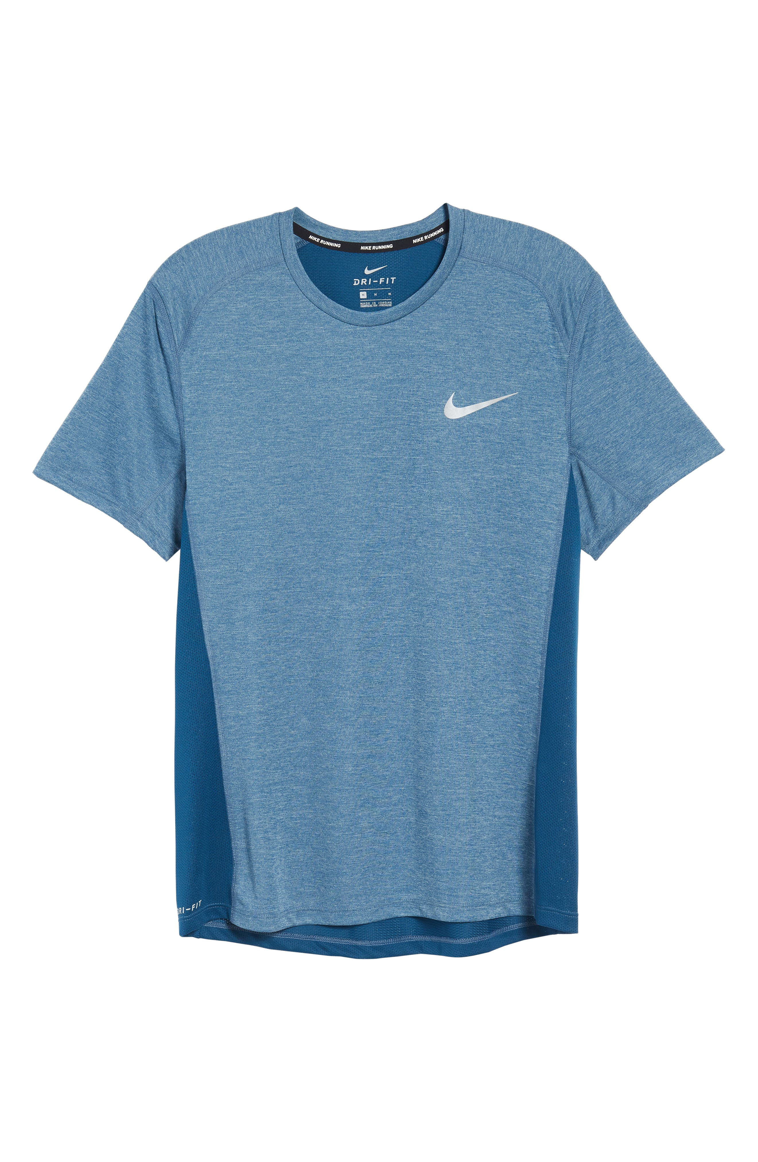 Dry Miler Running Top,                             Alternate thumbnail 6, color,                             Blue Force/ Heather
