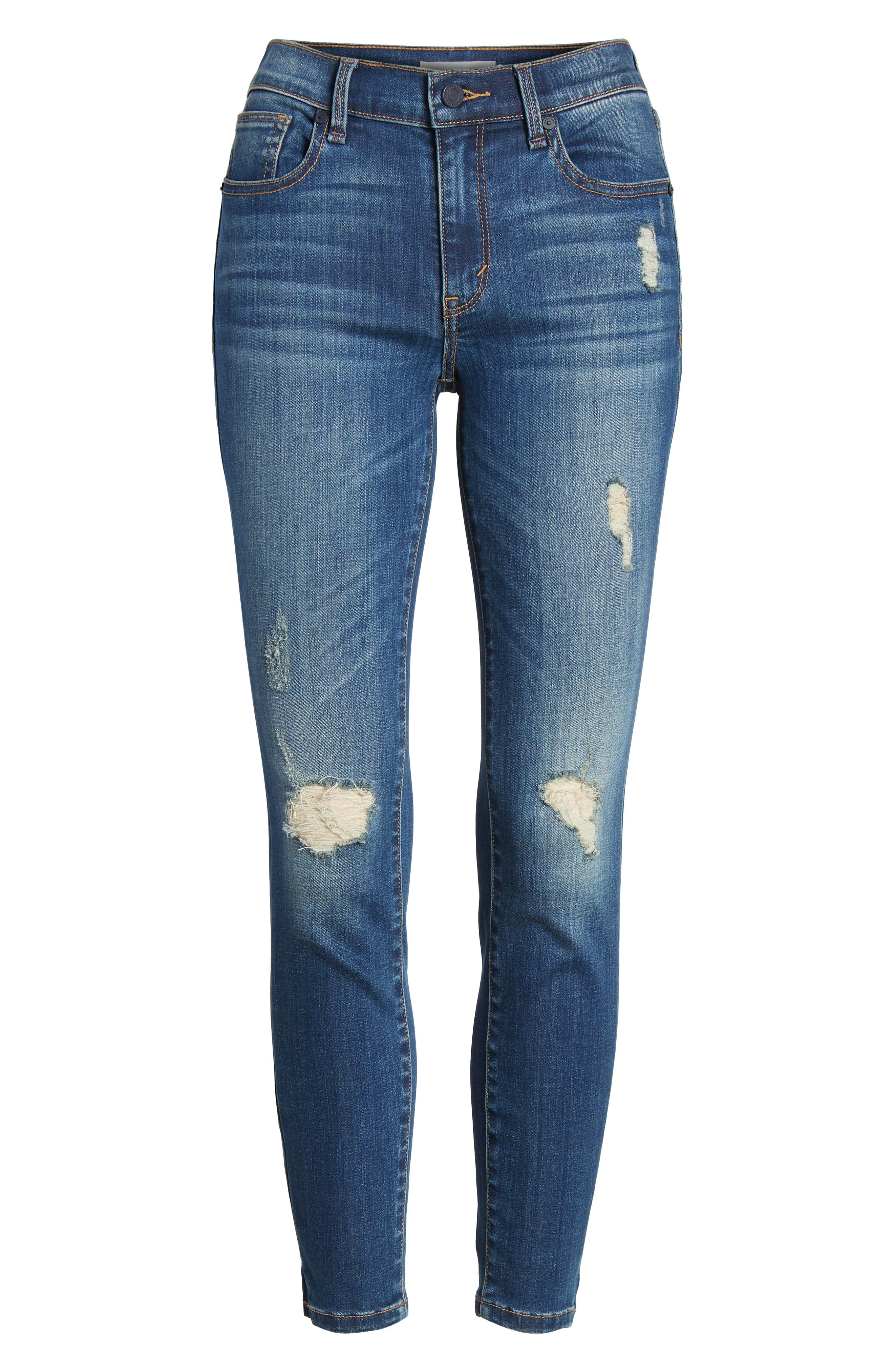 Marina Ankle Skinny Jeans,                             Alternate thumbnail 7, color,                             Basswood