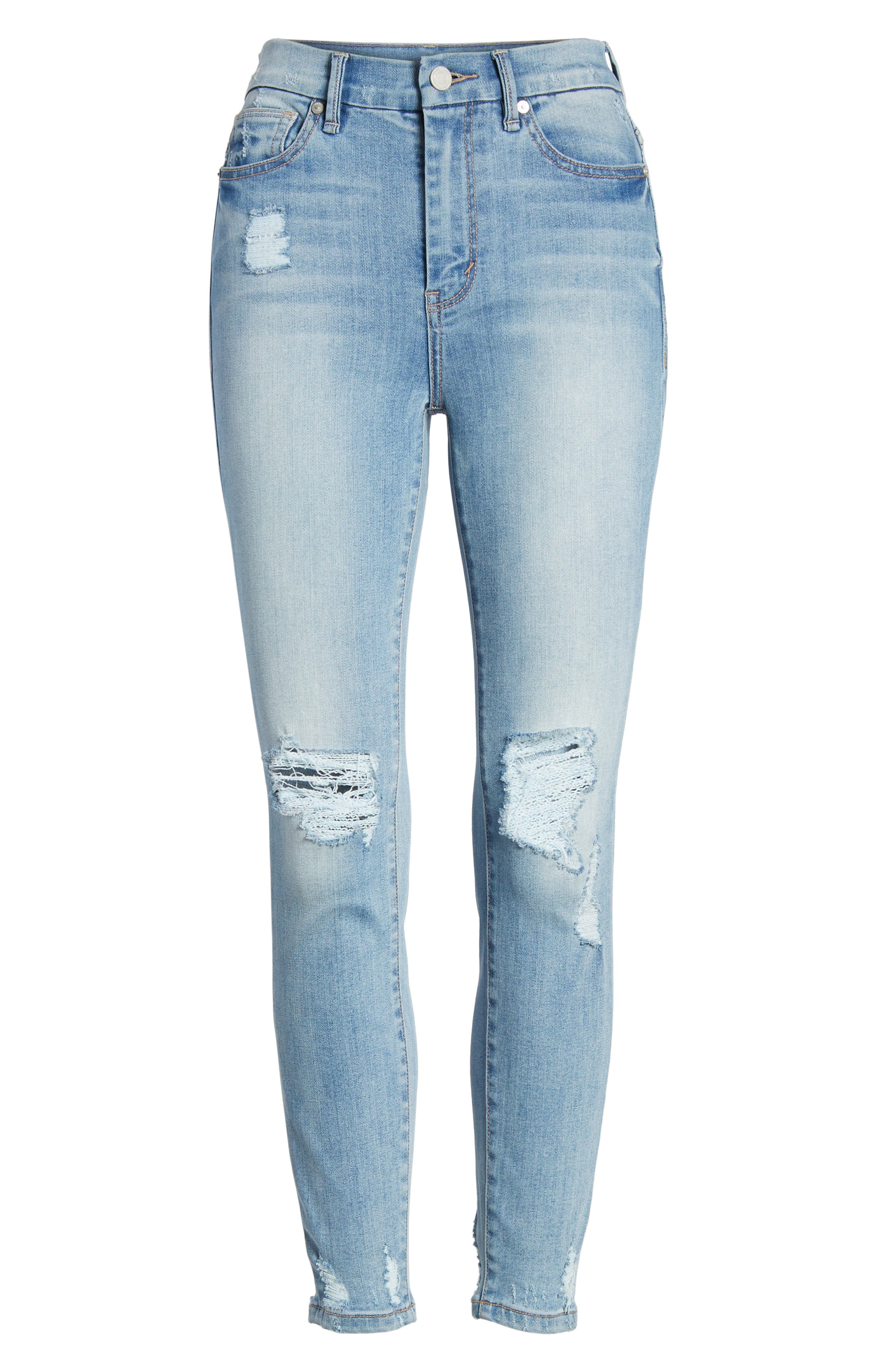 Cressa High Rise Ankle Skinny Jeans,                             Alternate thumbnail 7, color,                             Varnish