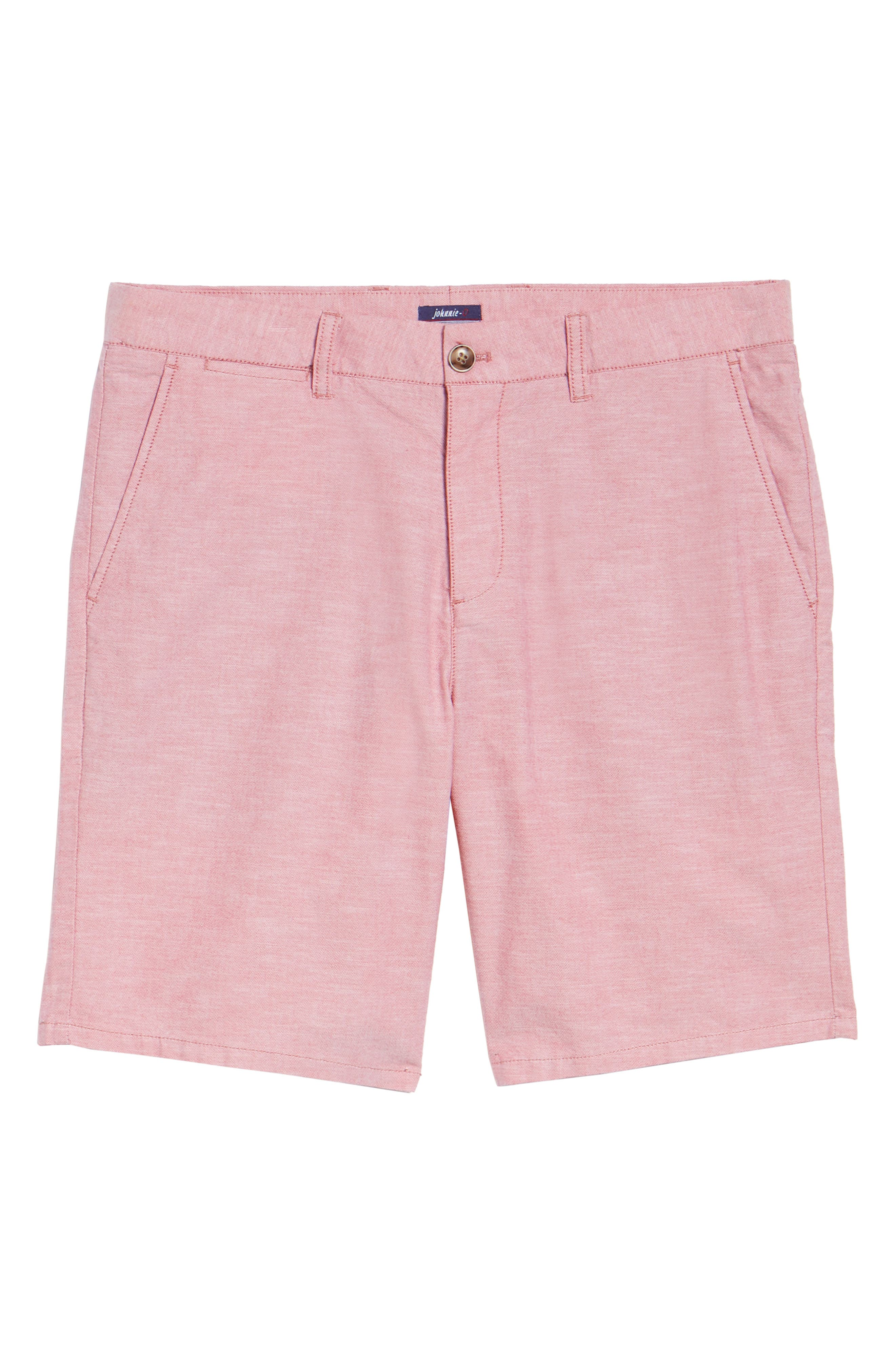 Merritt Regular Fit Shorts,                             Alternate thumbnail 6, color,                             Malibu Red